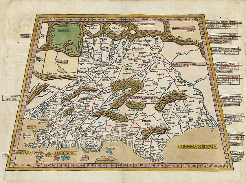 Germanus's Ptolemaic India map