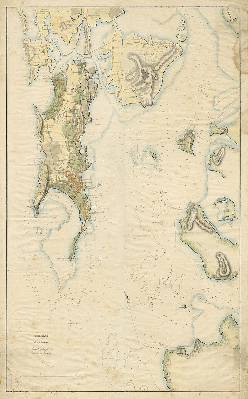 Juggunnath Willoba's map of the Bombay harbour.