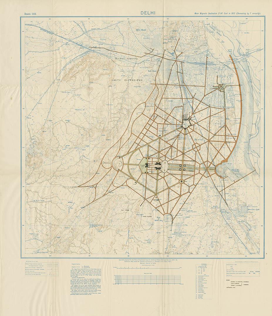 Lutyens's master plan of Delhi (1912)