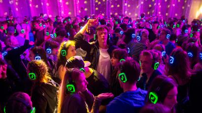 People dancing as part as silent disco