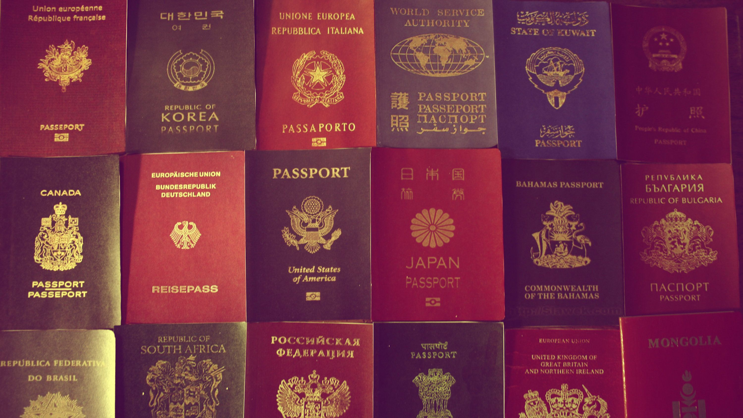 Pick a passport.