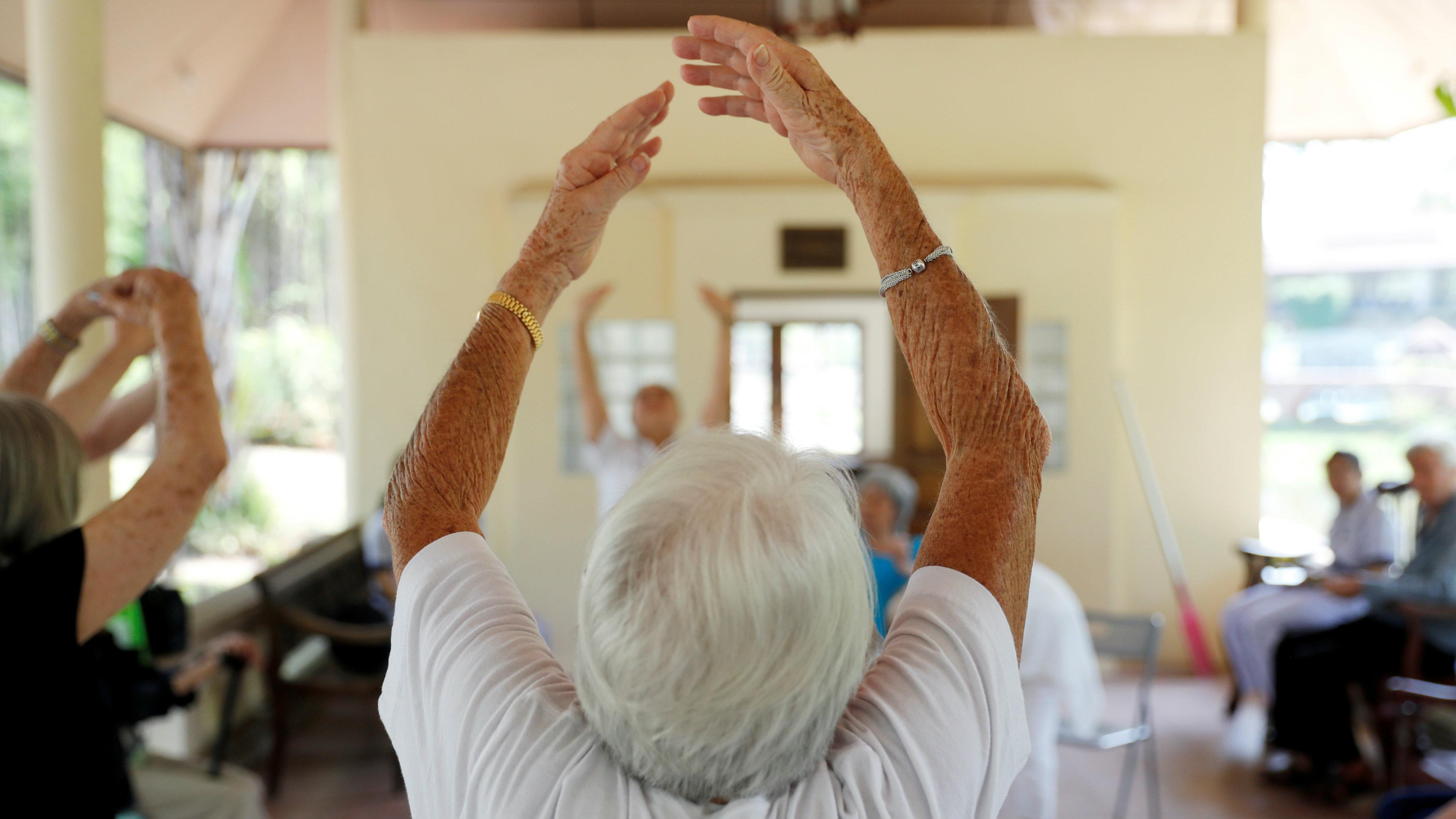 Retirees do Tai Chi