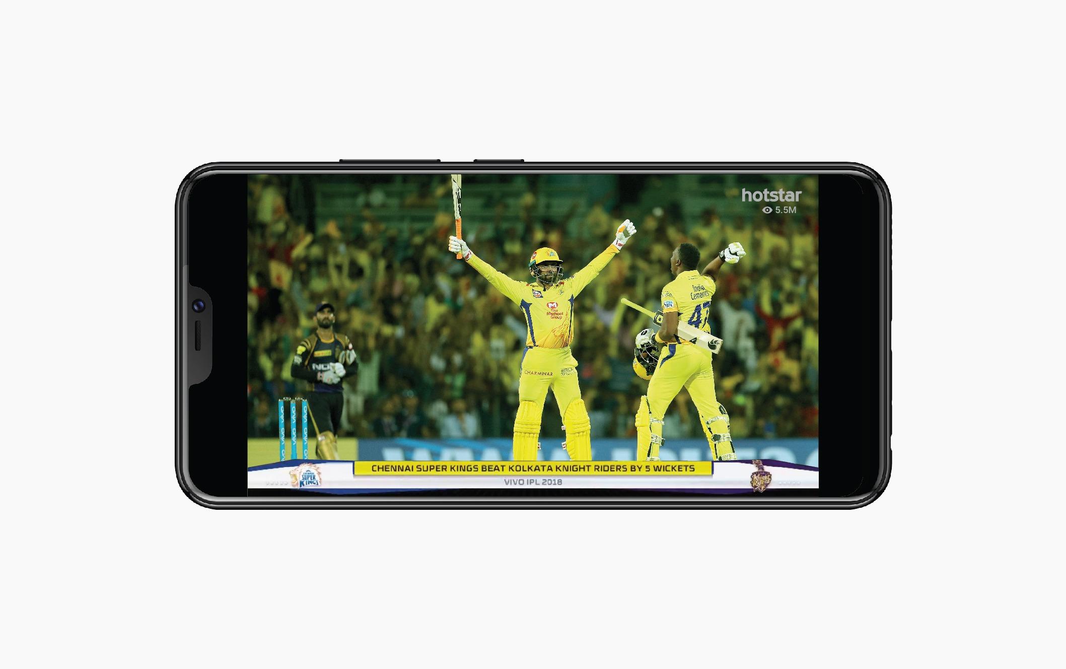 IPL's CSK versus KKR cricket match sets Hotstar's global