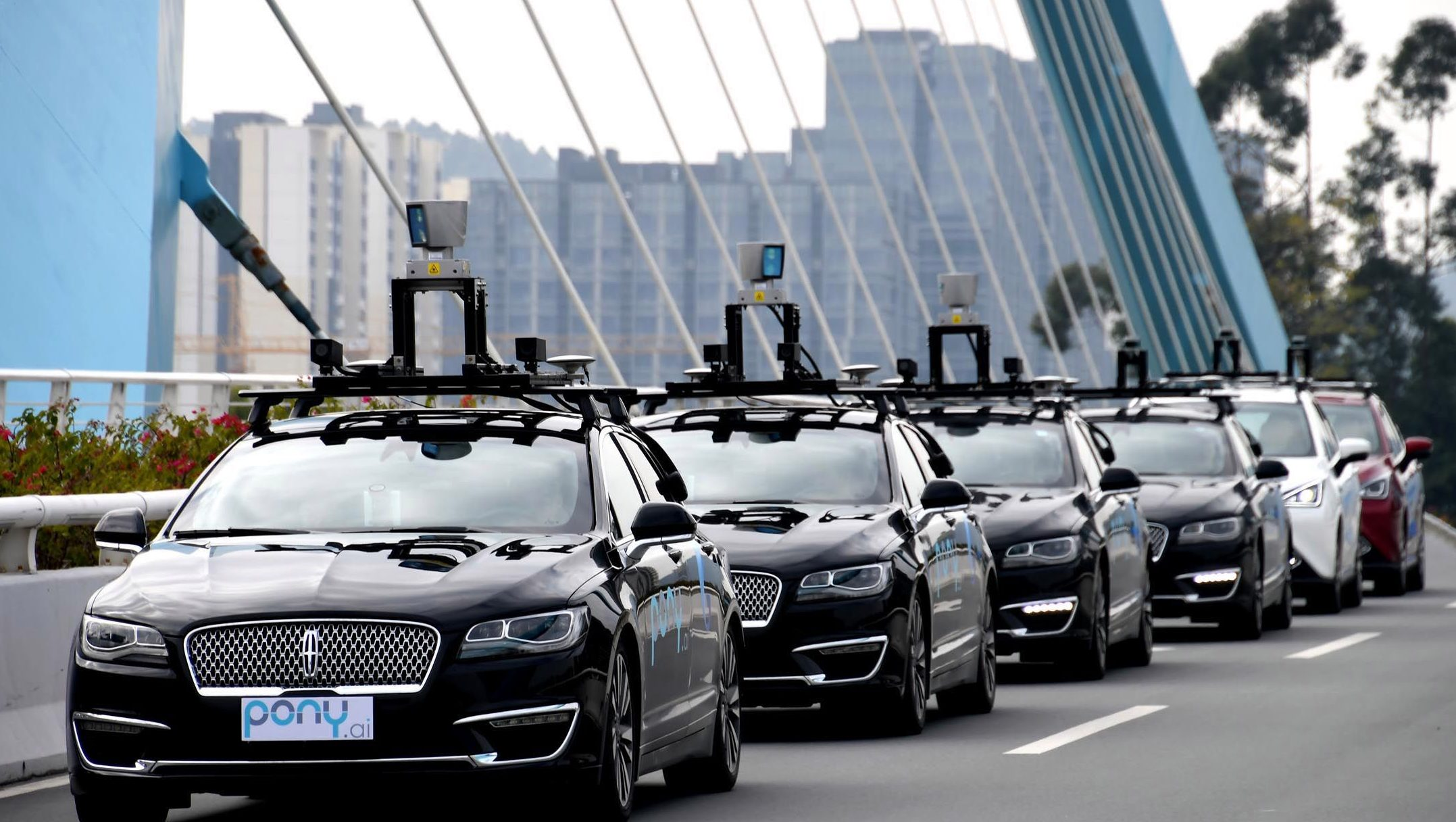 The self-driving fleets of Guangzhou-based startup Pony.AI.