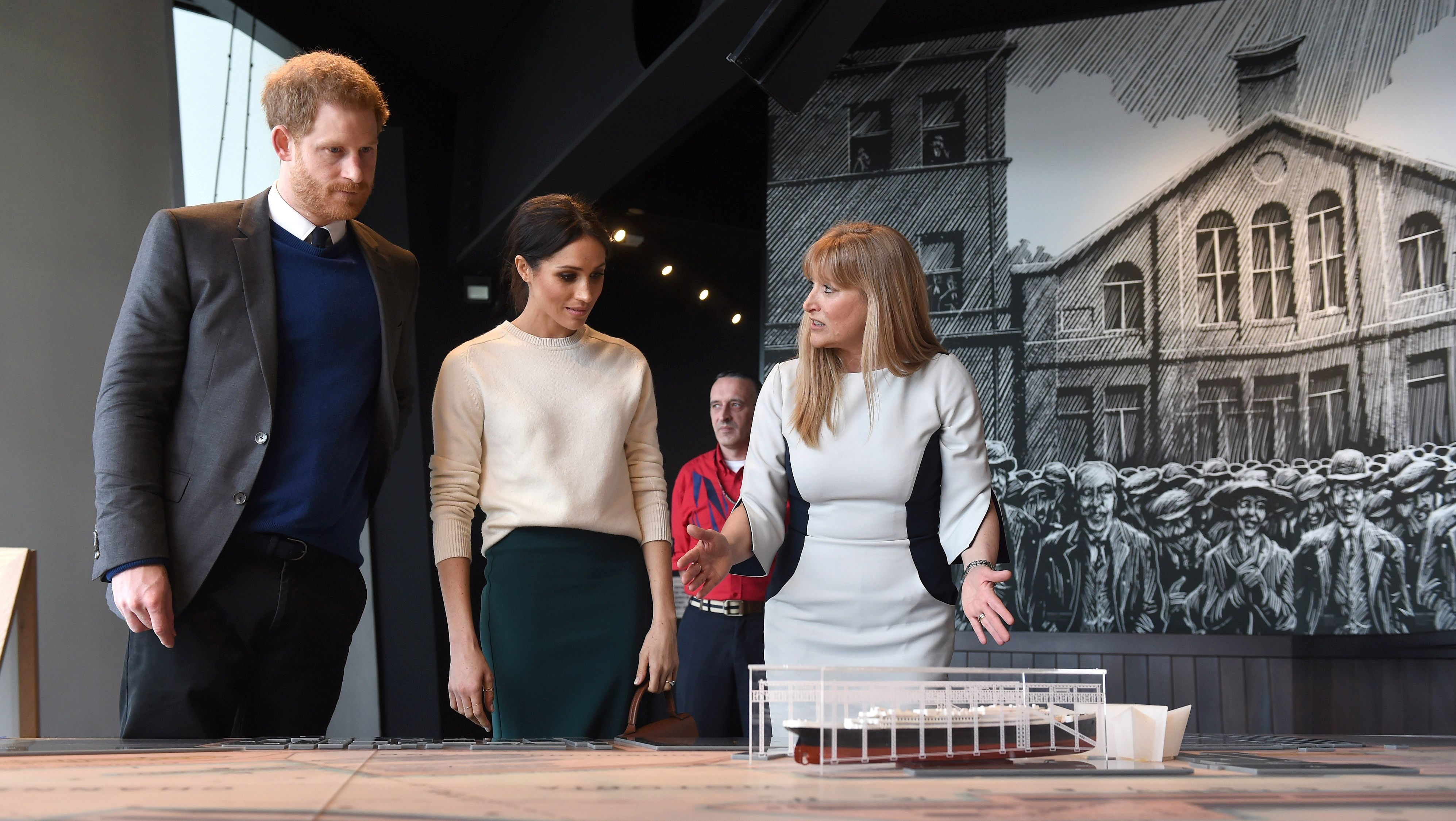 Prince Harry and Meghan Markle visit Titanic Belfast maritime museum in Belfast, Northern Ireland March 23, 2018.