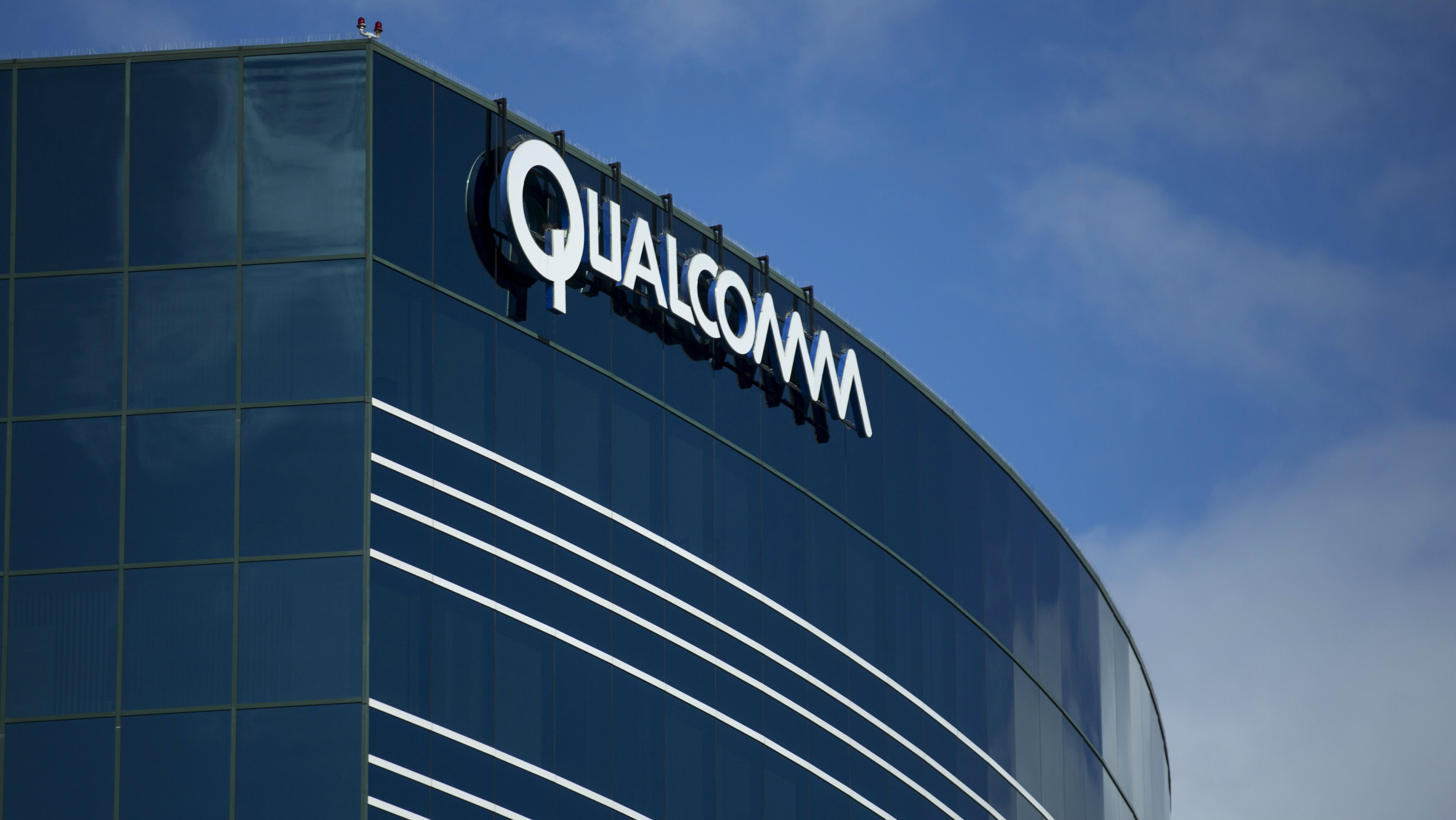 One of many Qualcomm buildings is shown in San