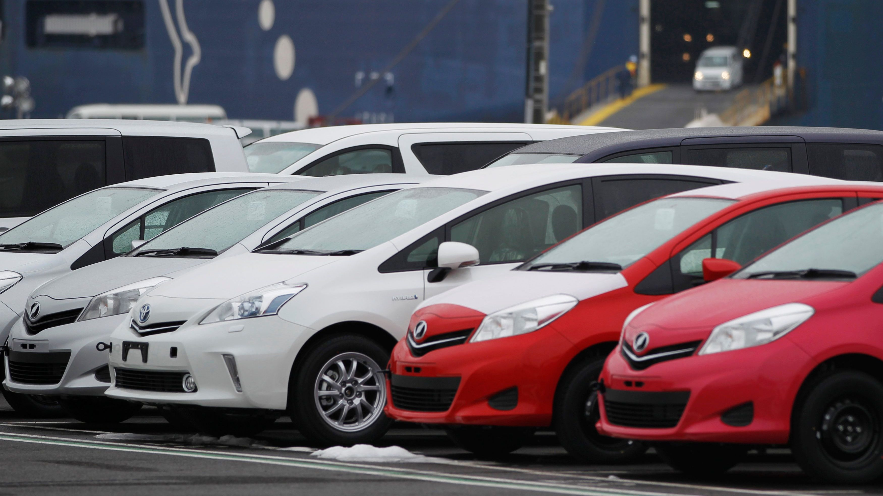 Delightful Newly Produced Toyota Cars Are Seen Parked At Sendai Port In Sendai, Miyagi  Prefecture,