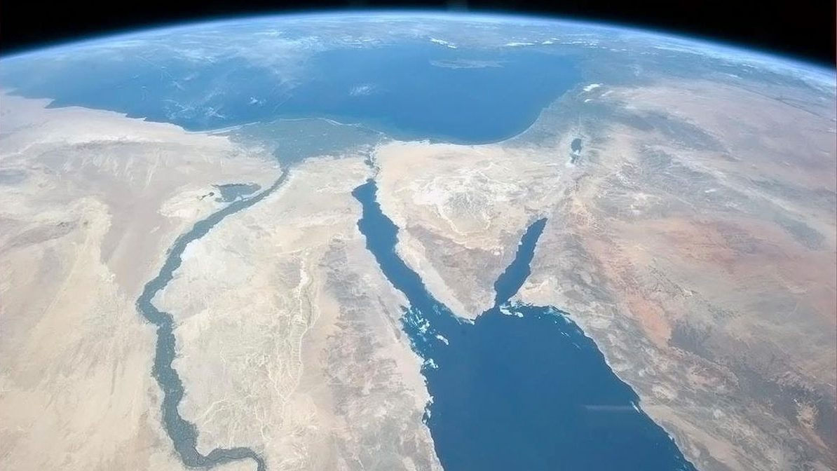 Handout photo of the Nile and the Sinai Peninsula