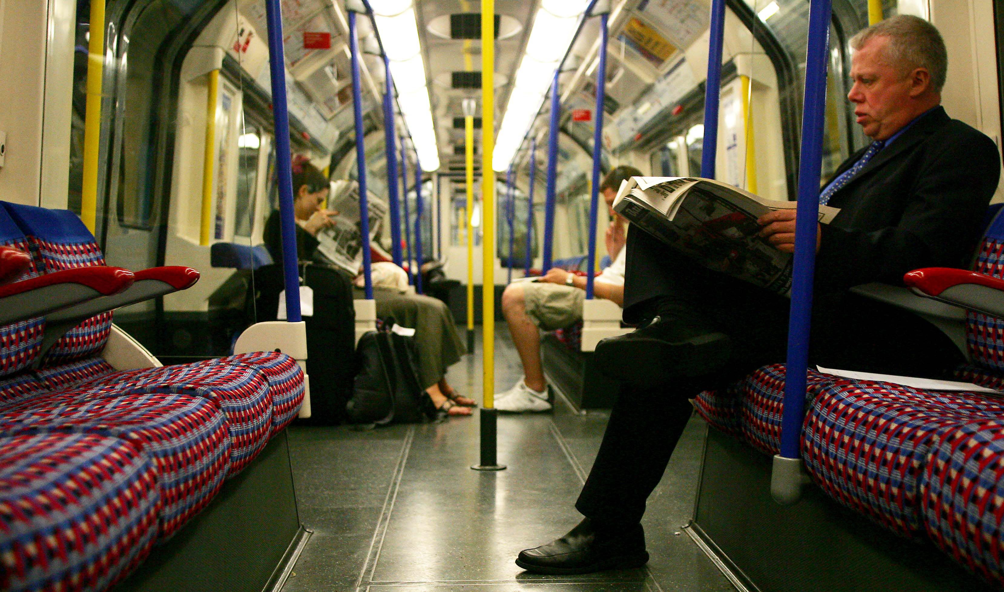 Passengers travel on the London Underground, July 8, 2005.