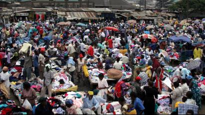 70f134d10 Kenyans pick through second-hand clothes at the vast Gikomba street-market