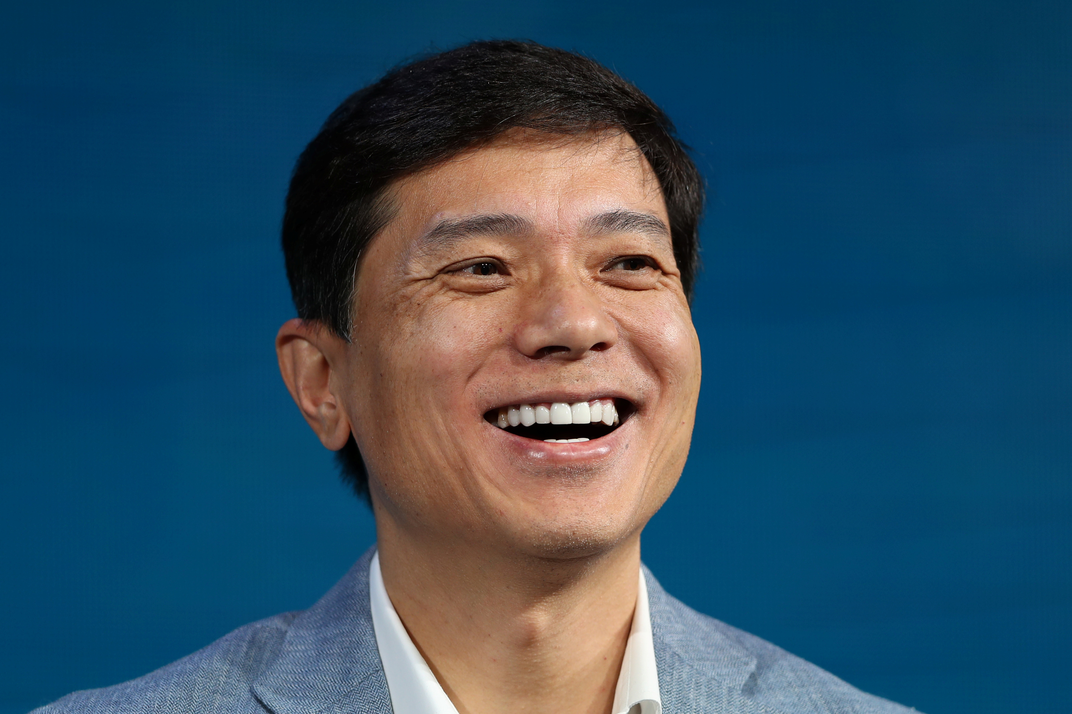 Robin Li, co-founder, chairman and chief executive officer of Baidu, smile during the Wall Street Journal Digital conference in Laguna Beach, California, U.S. October 17, 2017.