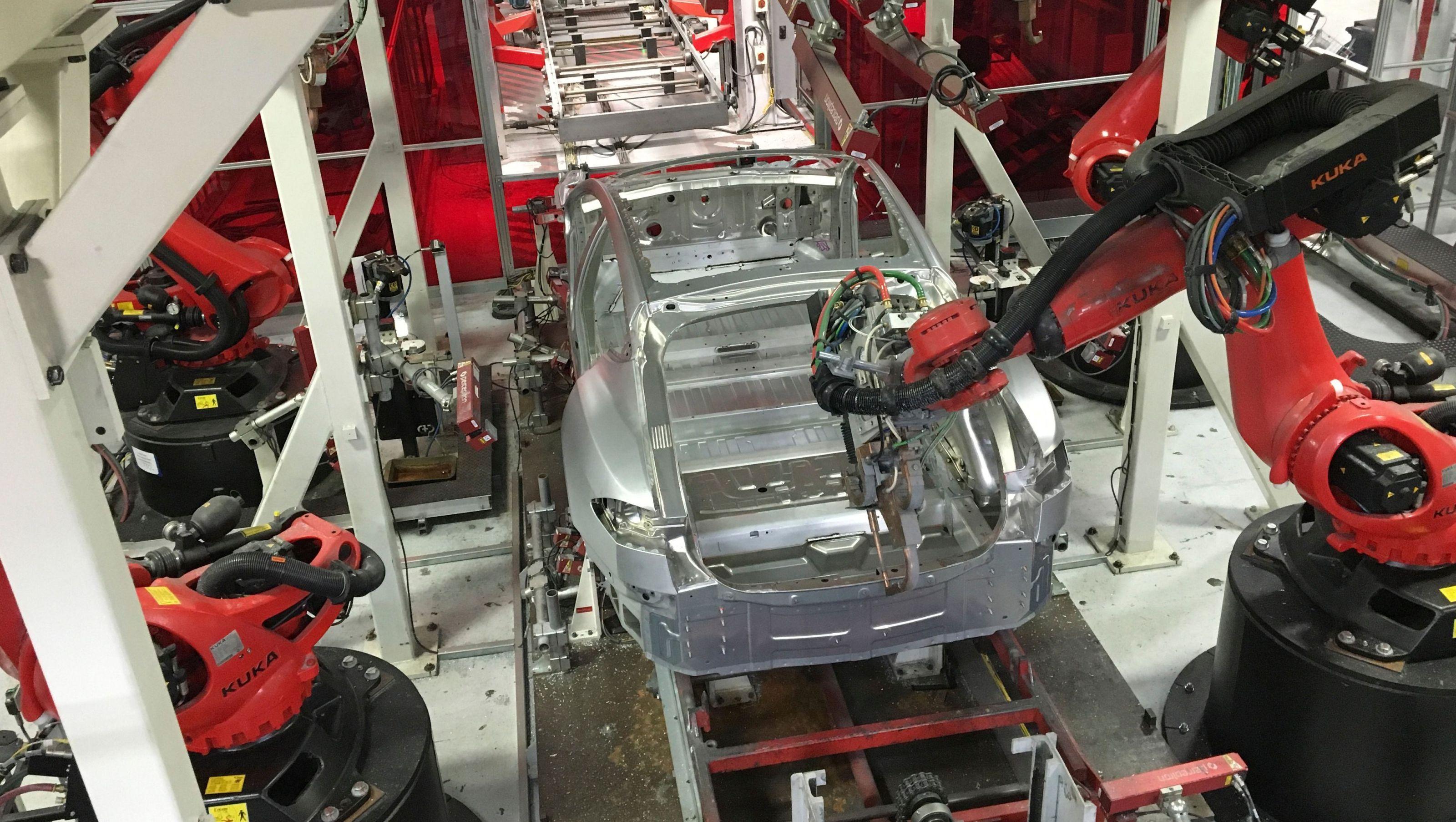 Tesla's Fremont factory.