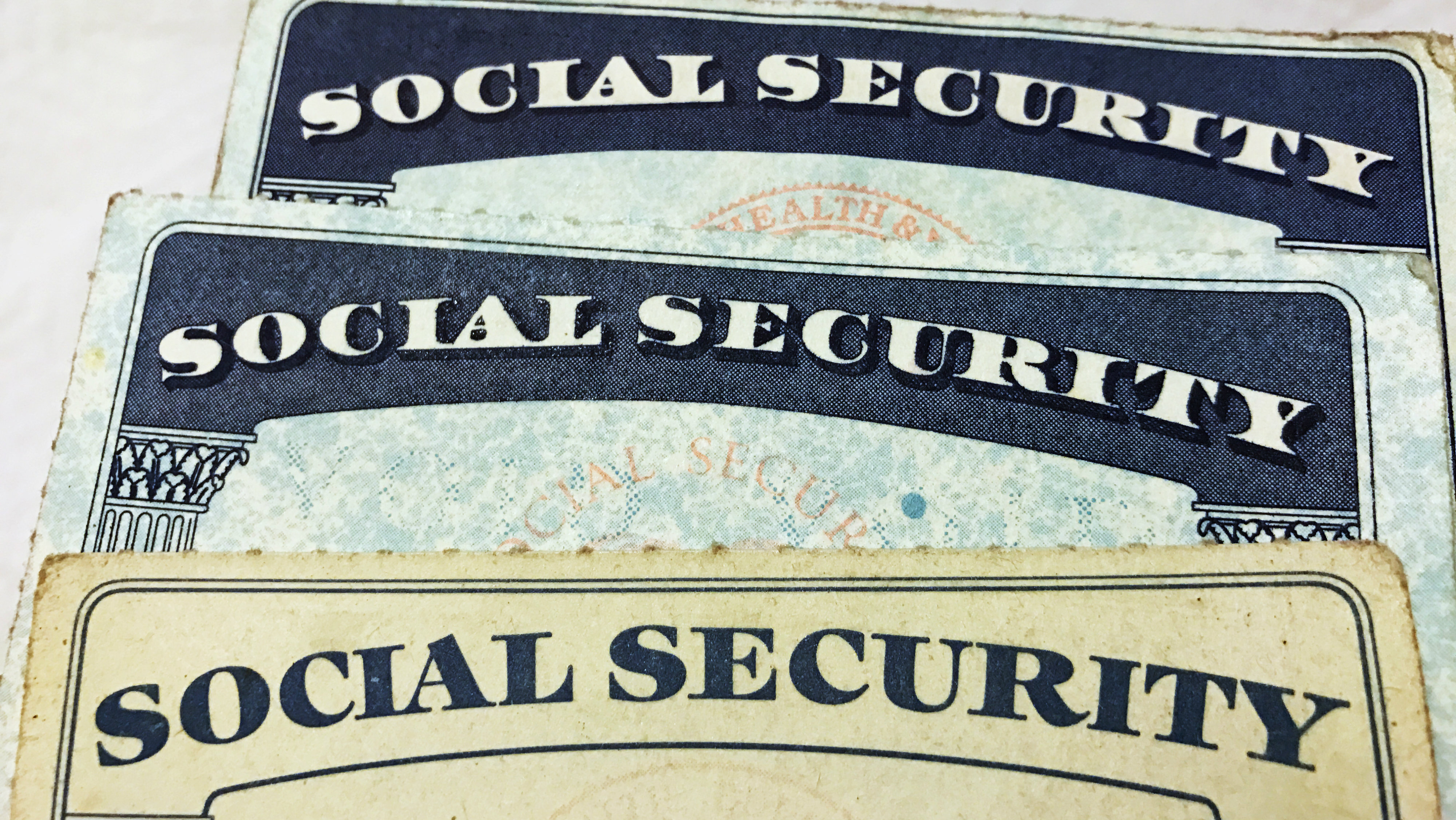 Social Security cards over the years.