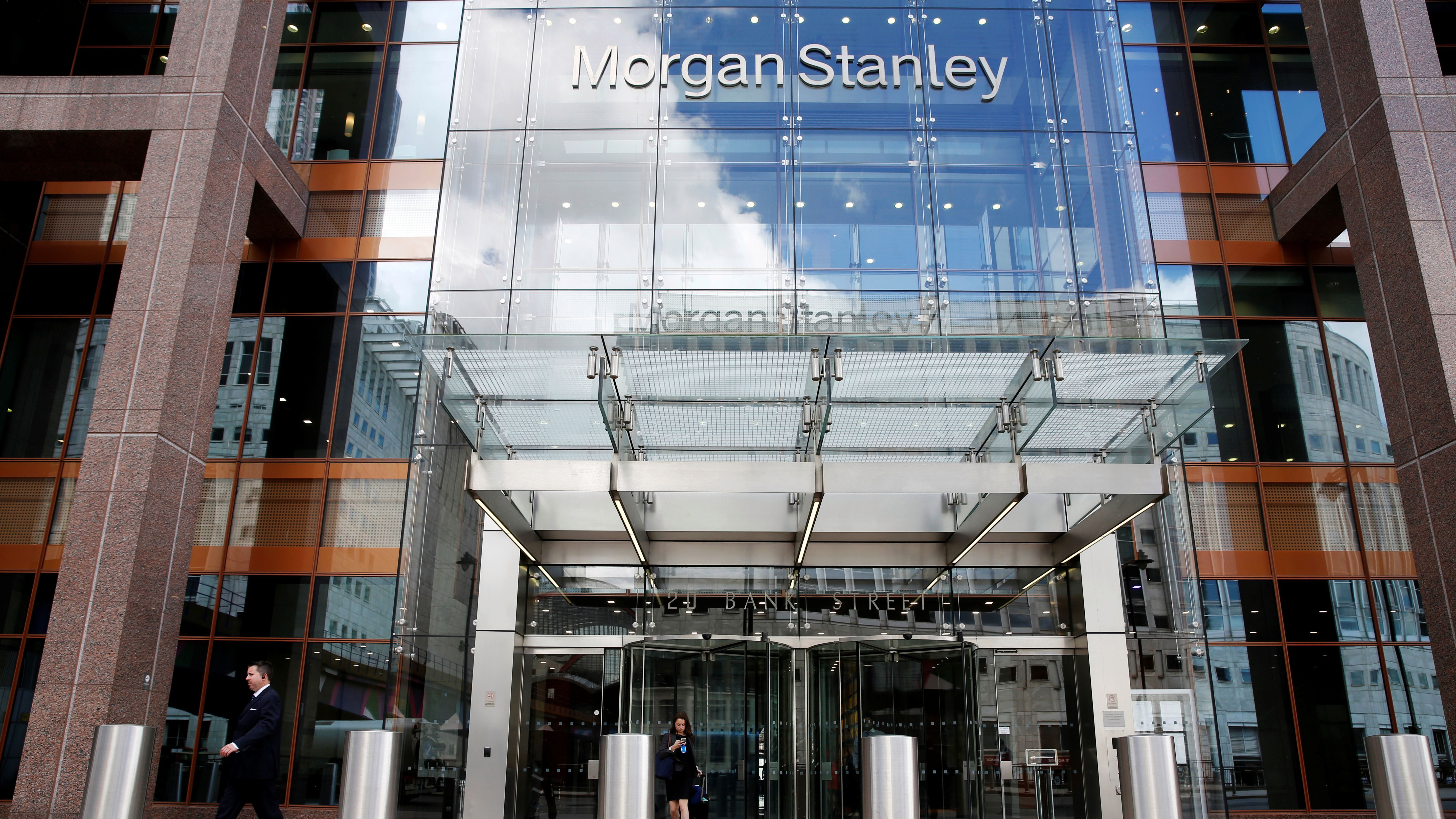 Morgan Stanley offices in London.