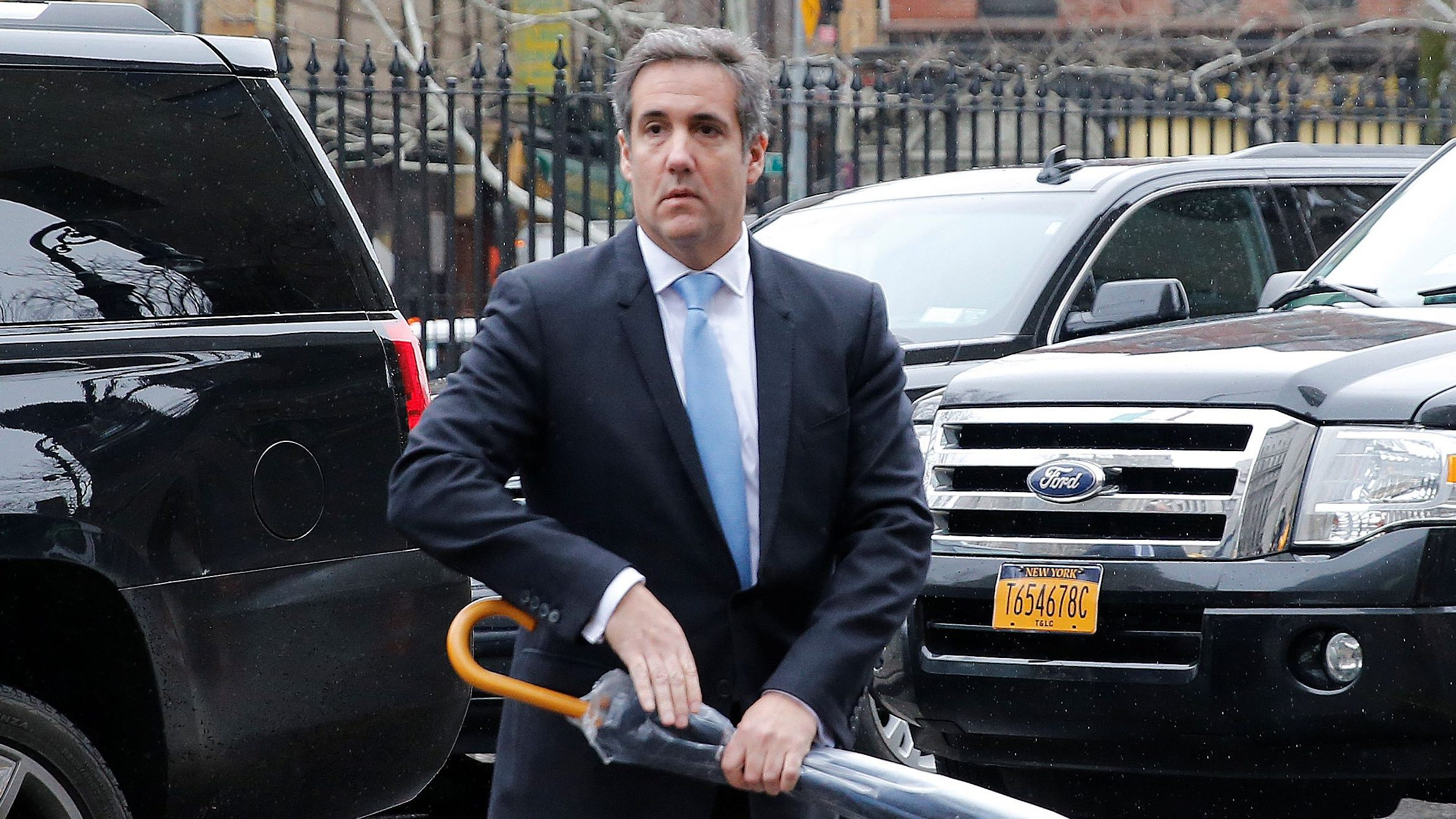U.S. President Donald Trump's personal lawyer Michael Cohen arrives at federal court in the Manhattan borough of New York City, New York, U.S., April 16, 2018. REUTERS/Shannon Stapleton - RC1DA16F0140