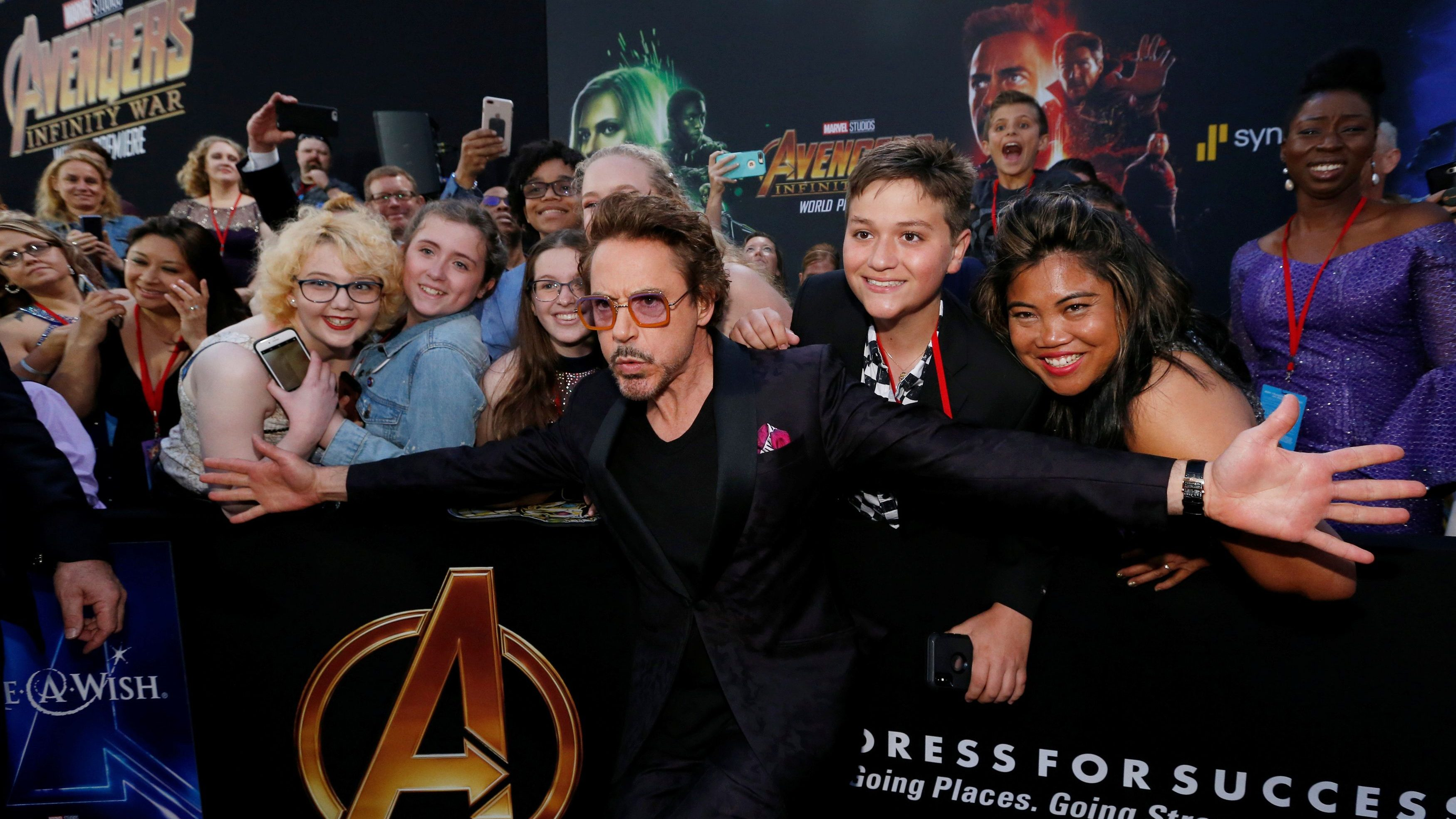 "marvel's ""avengers: infinity war"" made the biggest debut in movie"