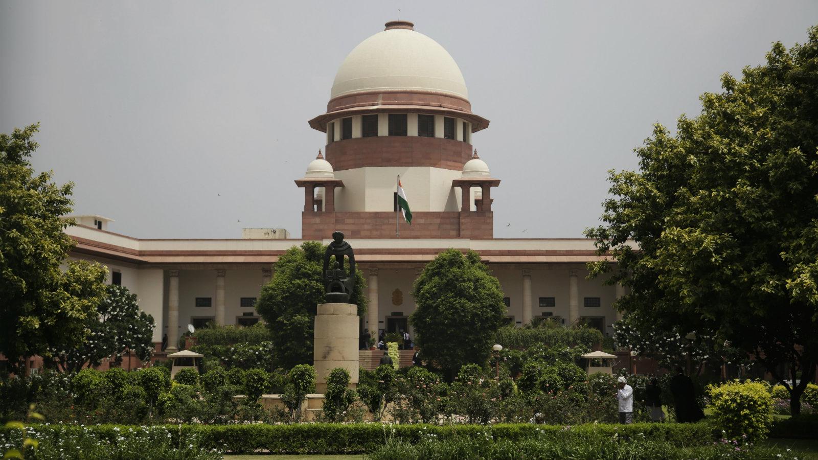 The supreme court in New Delhi.