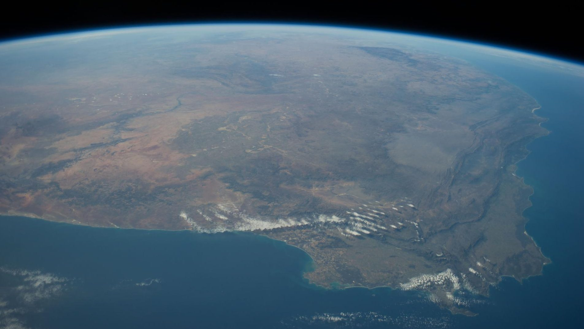 A view of South Africa from the International Space Station.