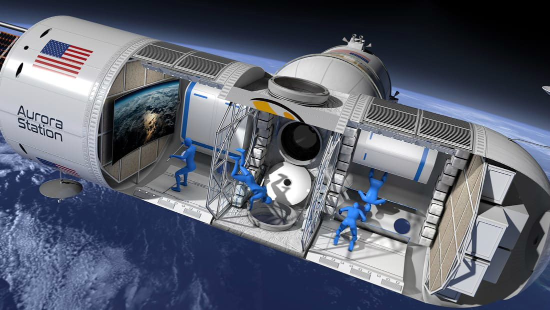 The first space hotel.