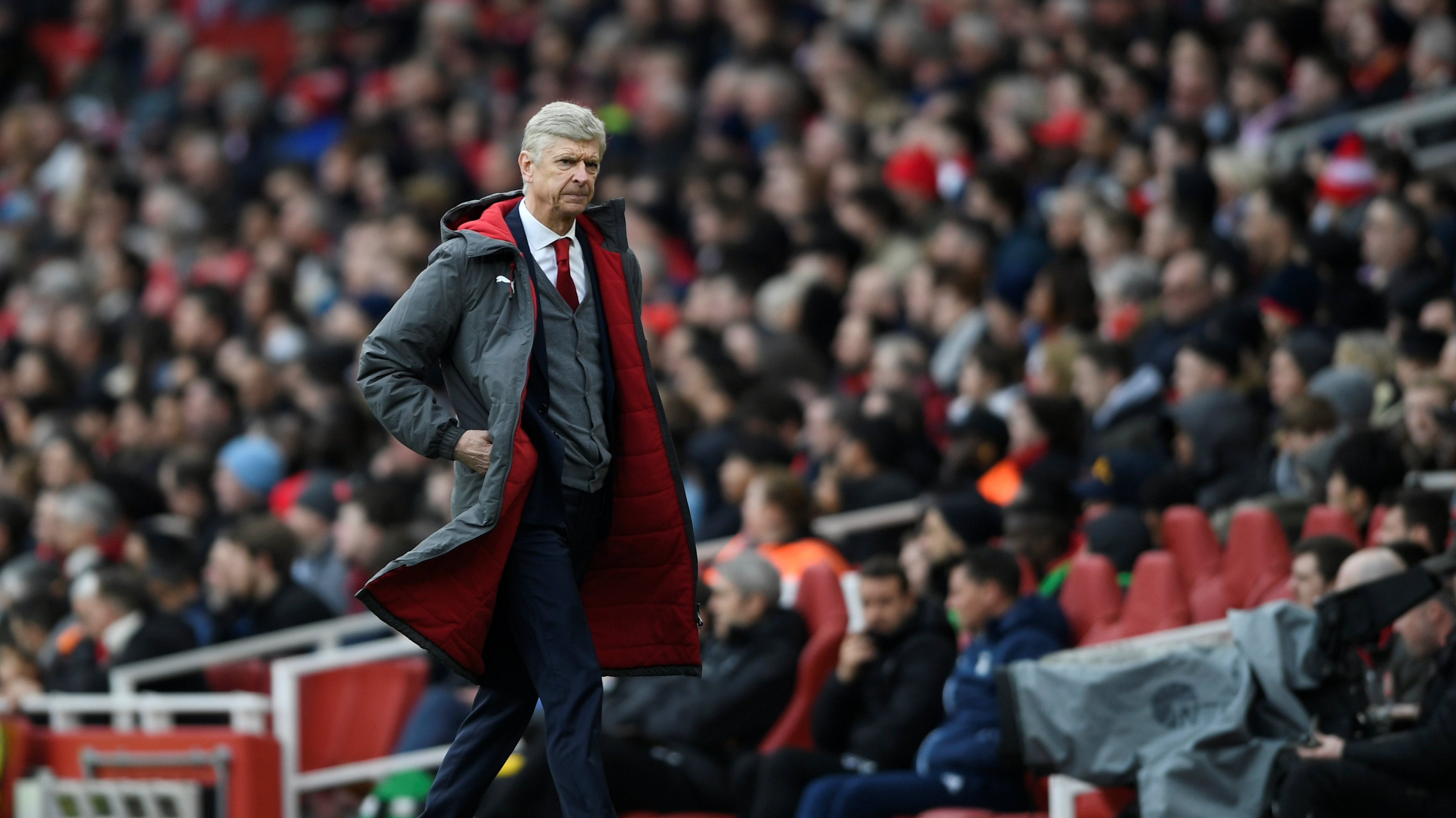 Soccer Football - Premier League - Arsenal vs Watford - Emirates Stadium, London, Britain - March 11, 2018 Arsenal manager Arsene Wenger