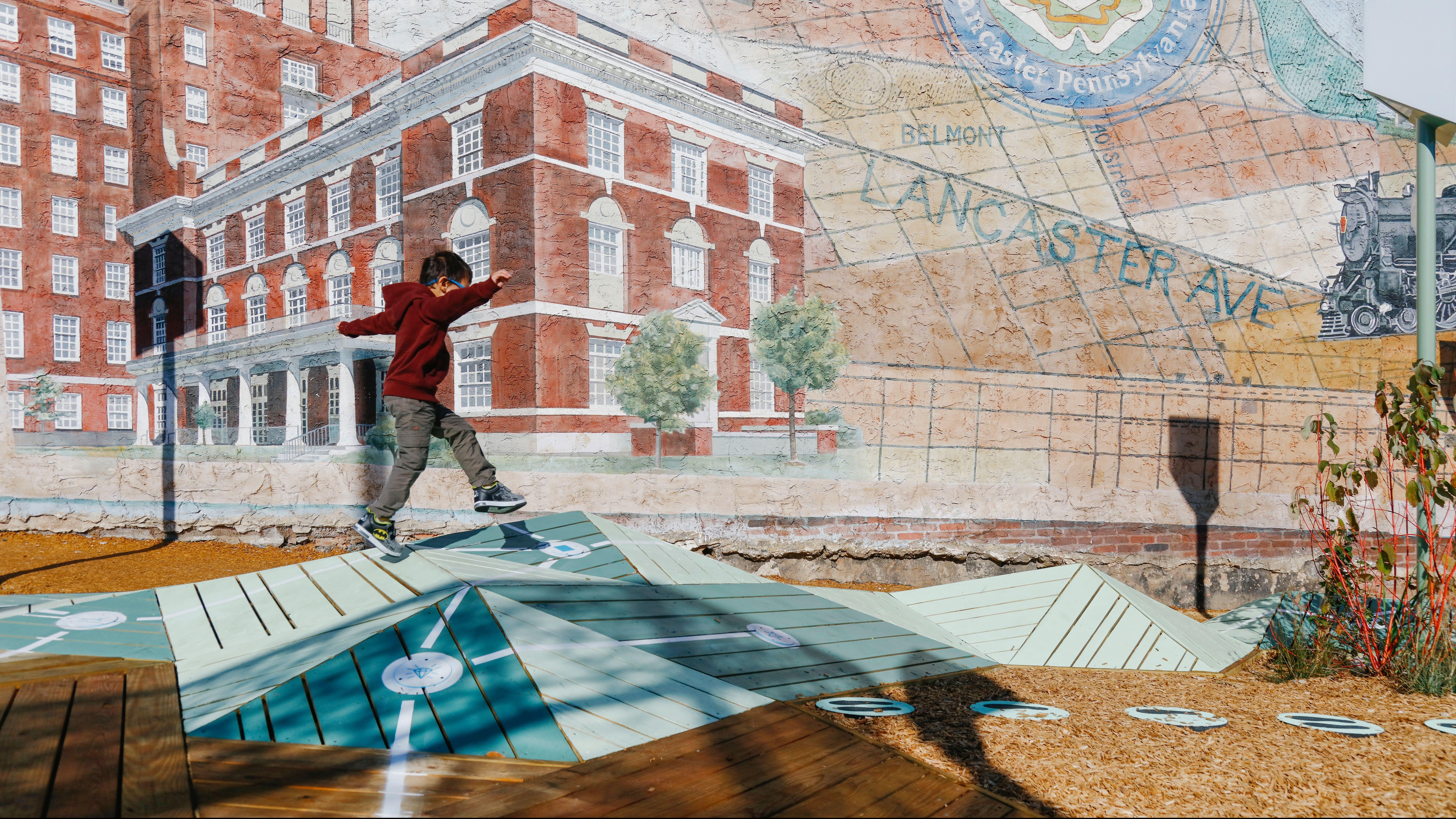 The Urban Thinkscape playground in Belmont, Philadelphia.