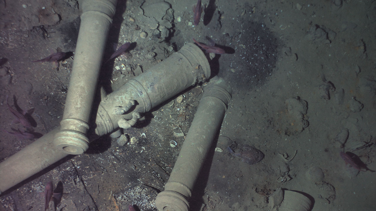 Distinctive cannons were the key clue to finding the wreck of the San José.