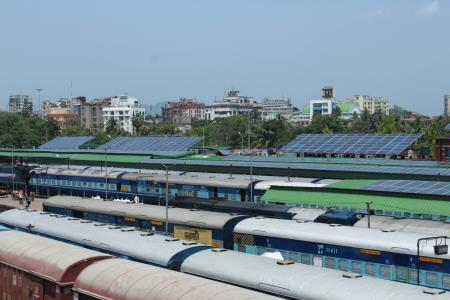 Guwahati is India's first fully solar-powered railway station