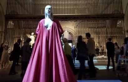 Body and blood, captured in a Valentino gown.