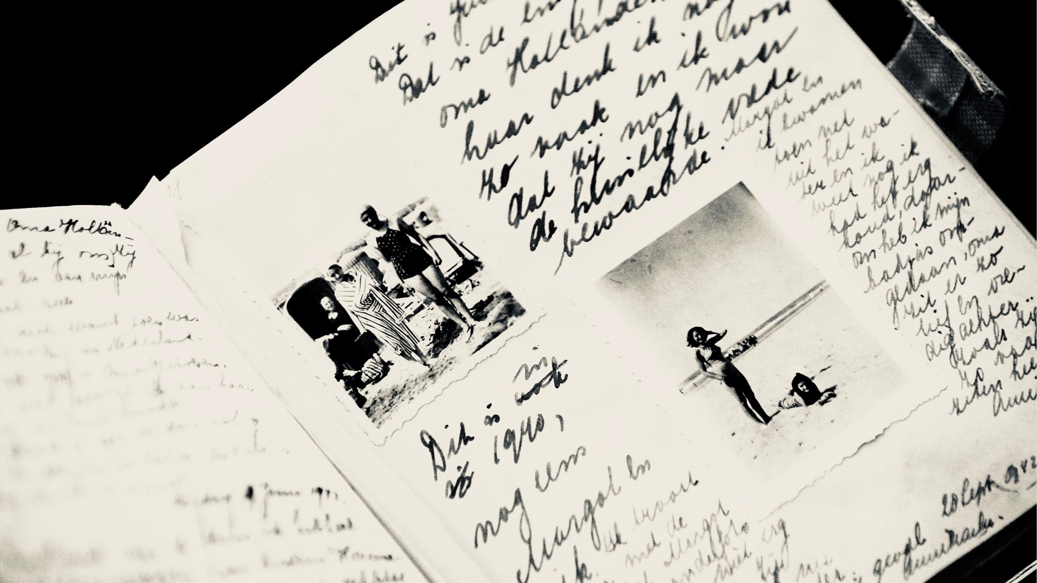 Pages from Anne Frank's diary.