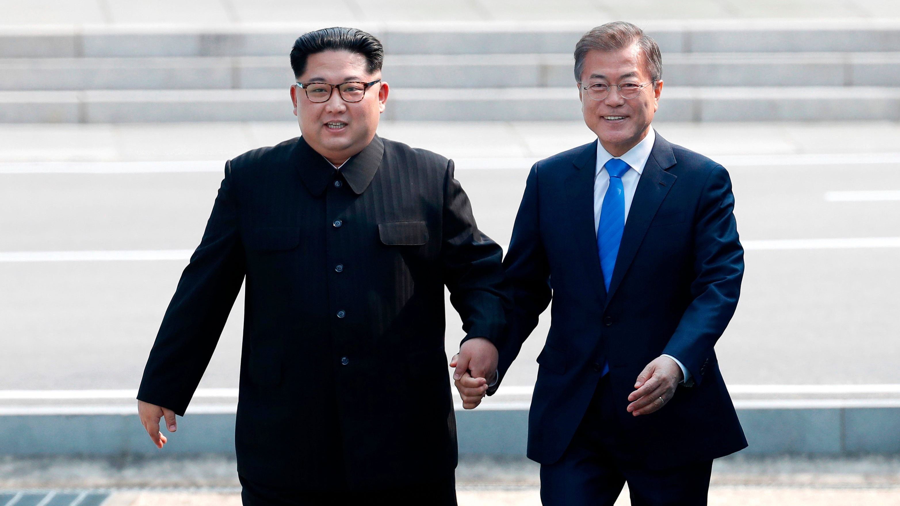 Two Korean leaders meet in a surprise summit in border truce village