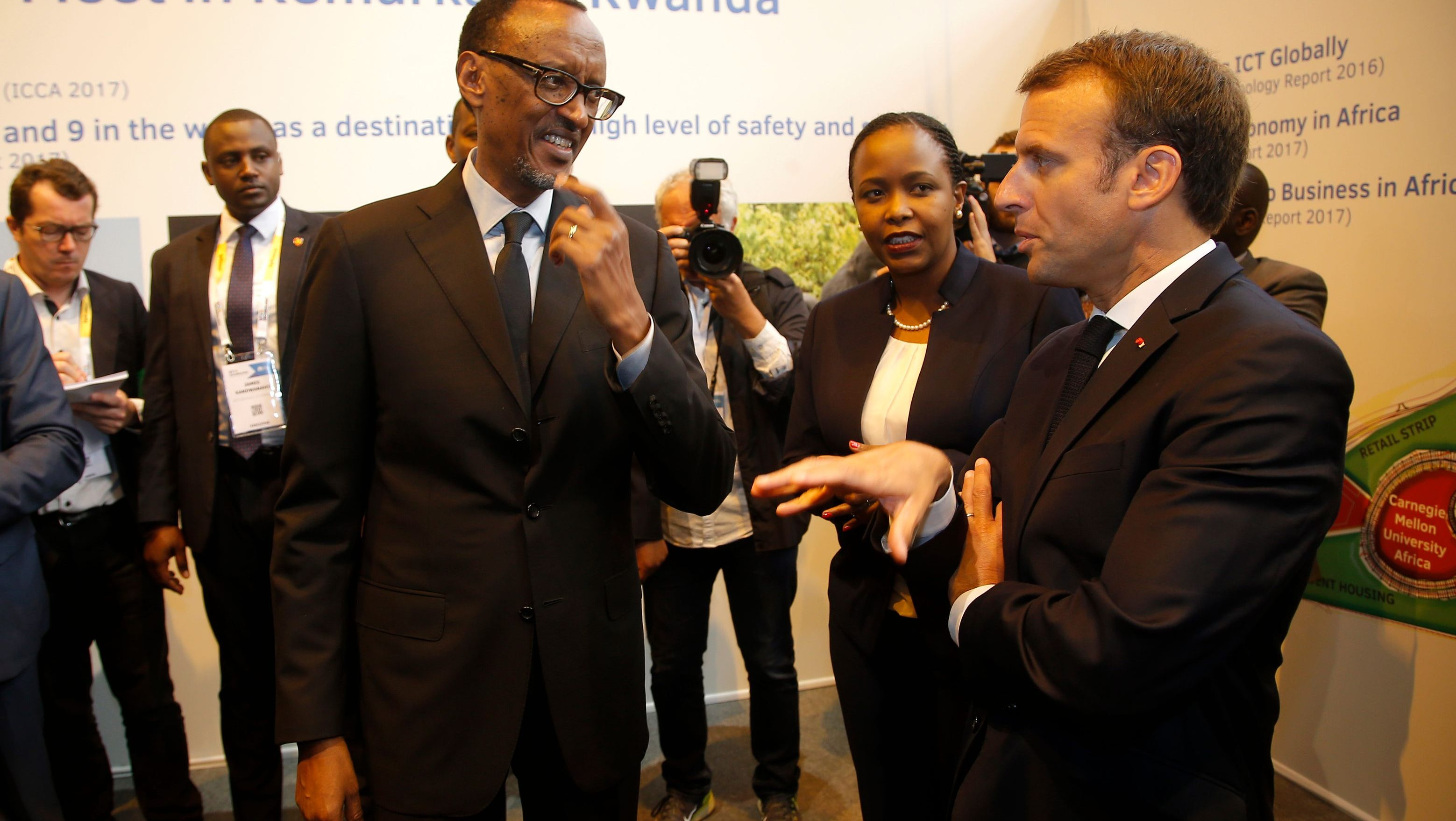 Macron is making another big play for Africa, this time for its startups