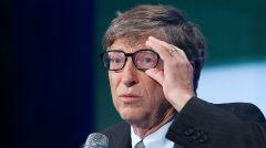 Bill Gates, co-founder of Microsoft, lectures at the Clinton Global Initiative, Tuesday, September 24, 2013 in New York. Gates participated in a panel discussion on