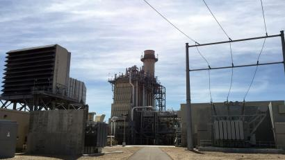 Idaho Power's Langley Gulch Power Plant in New Plymouth, Idaho, has a combined-cycle combustion turbine that uses natural gas to produce energy as well as exhaust heat to produce steam that also produces energy. The plant shown in this July 16, 2015, photo, can produce about 330 megawatts. (AP Photo/ Keith Ridler)