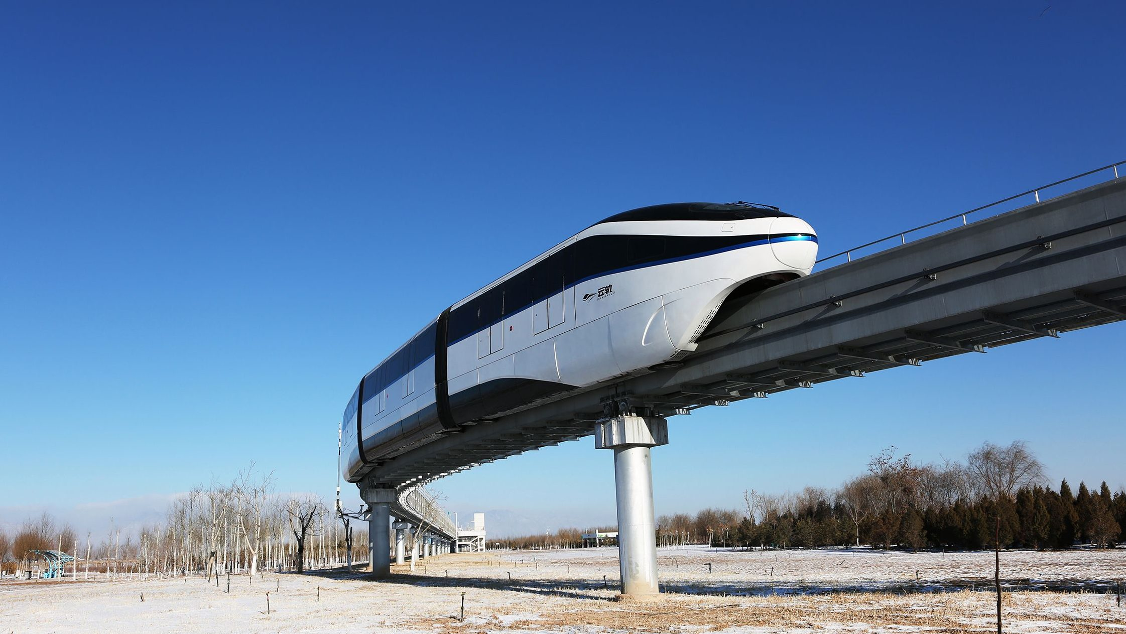 BYD's first monorail in operation in China's northern city Yinchuan.