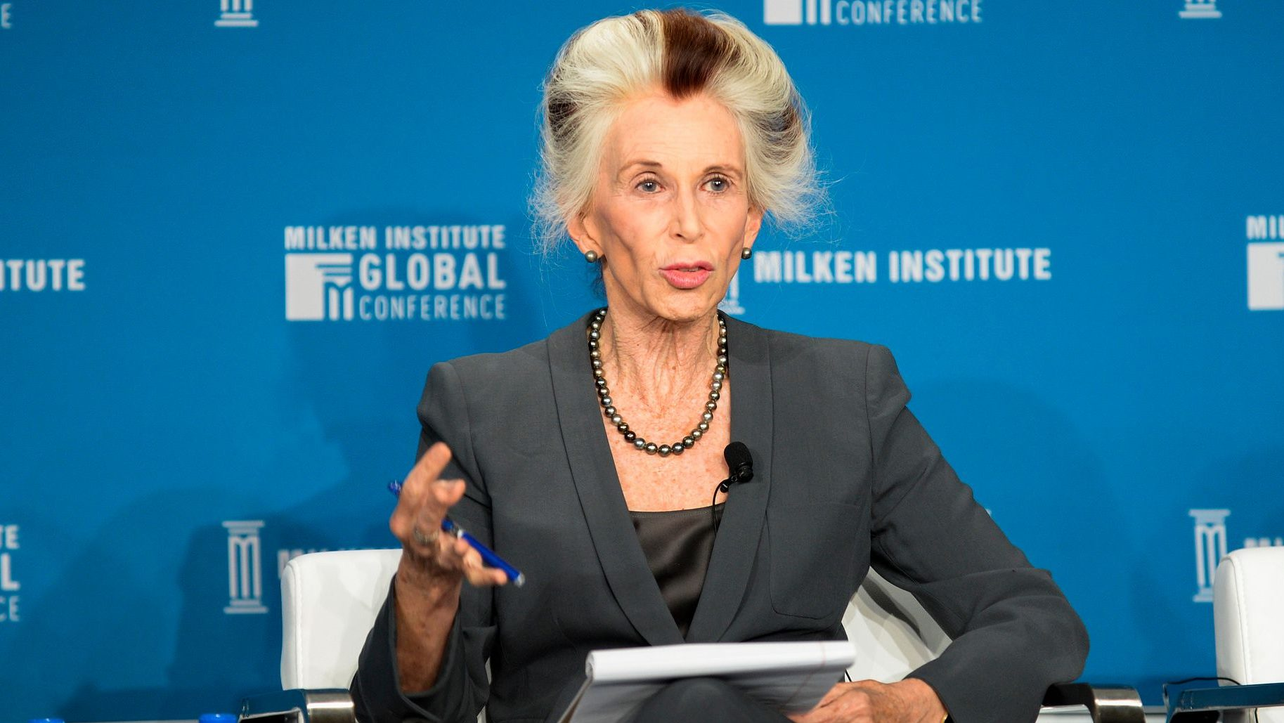 """Photo of Catherine MacKinnon, Catharine MacKinnon, James Barr Ames Visiting Professor of Law, Harvard Law School; Author, """"Sexual Harassment of Working Women"""" and """"Butterfly Politics"""", at the Milken Institute Global Conference 2018"""