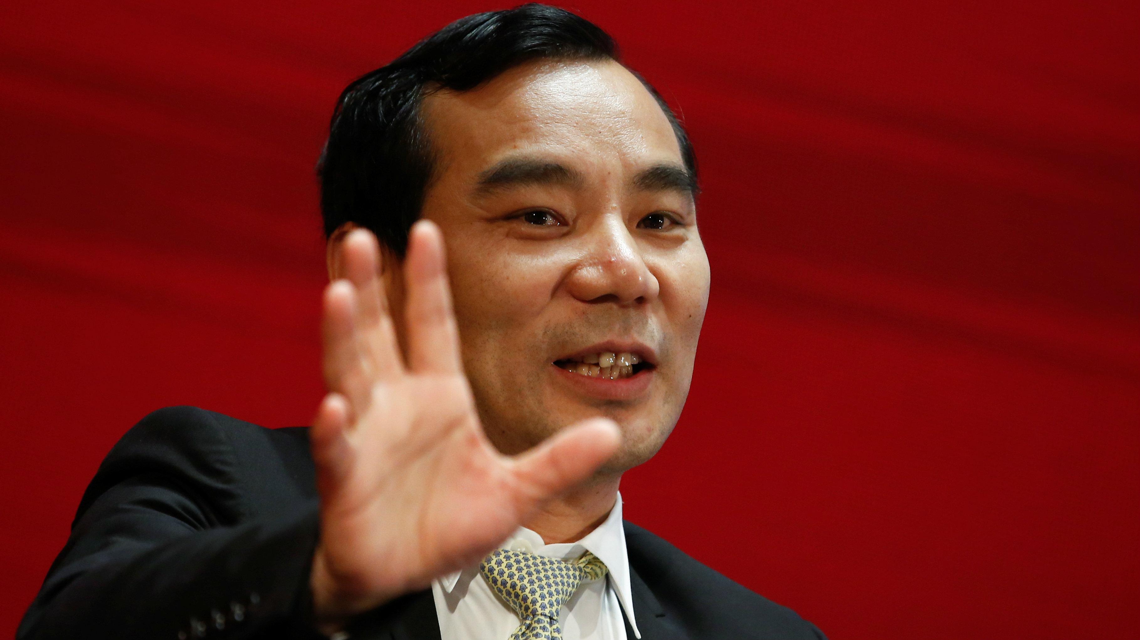 Chairman of Anbang Insurance Group Wu Xiaohui attends the China Development Forum in Beijing, China