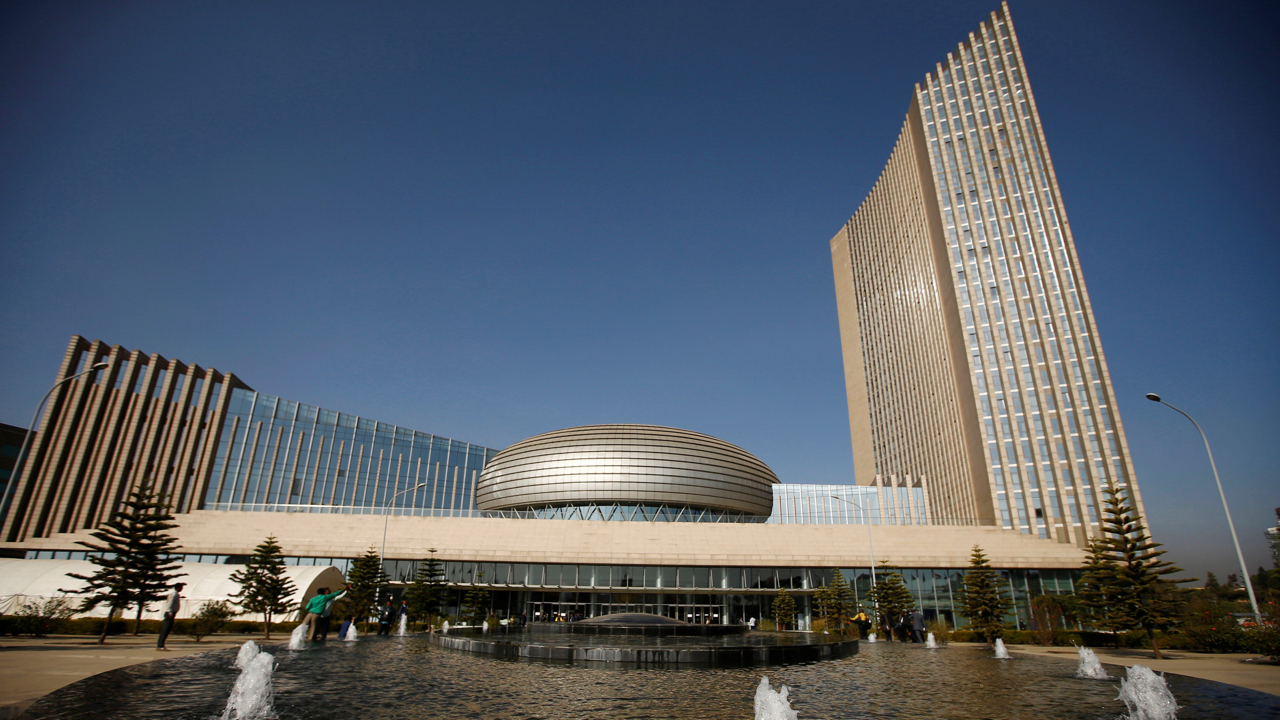 A general view shows the headquarters of the African Union (AU) building in Ethiopia's capital Addis Ababa, January 29, 2017. REUTERS/Tiksa Negeri - RC1C19B81D20