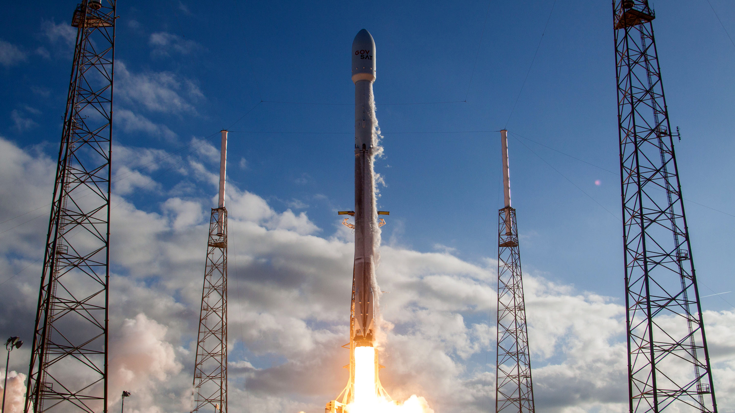 The Falcon 9 Block IV vehicle that launched the NASA TESS satellite.