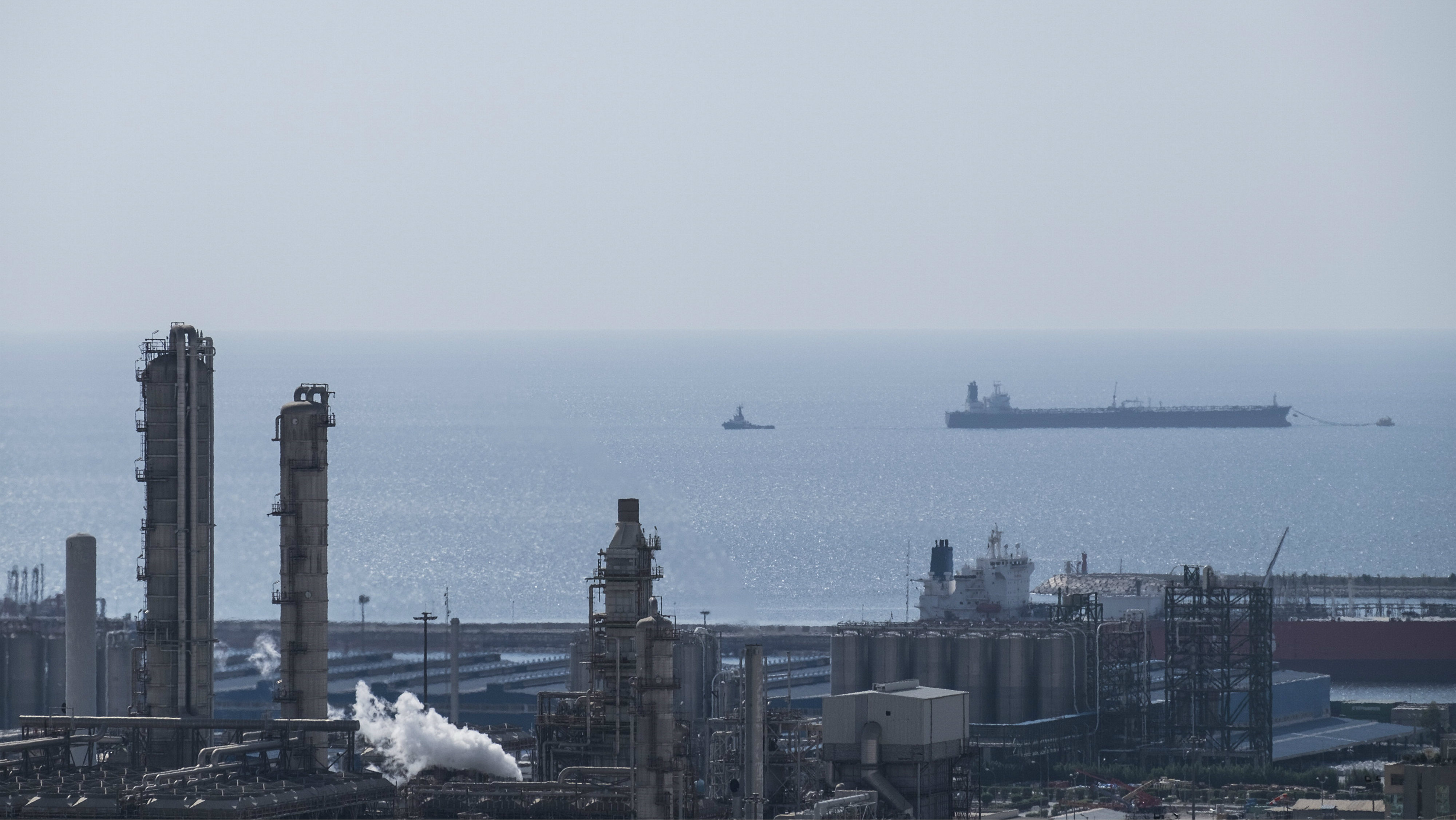 A unit of South Pars Gas field in Asalouyeh Seaport, north of Persian Gulf, Iran