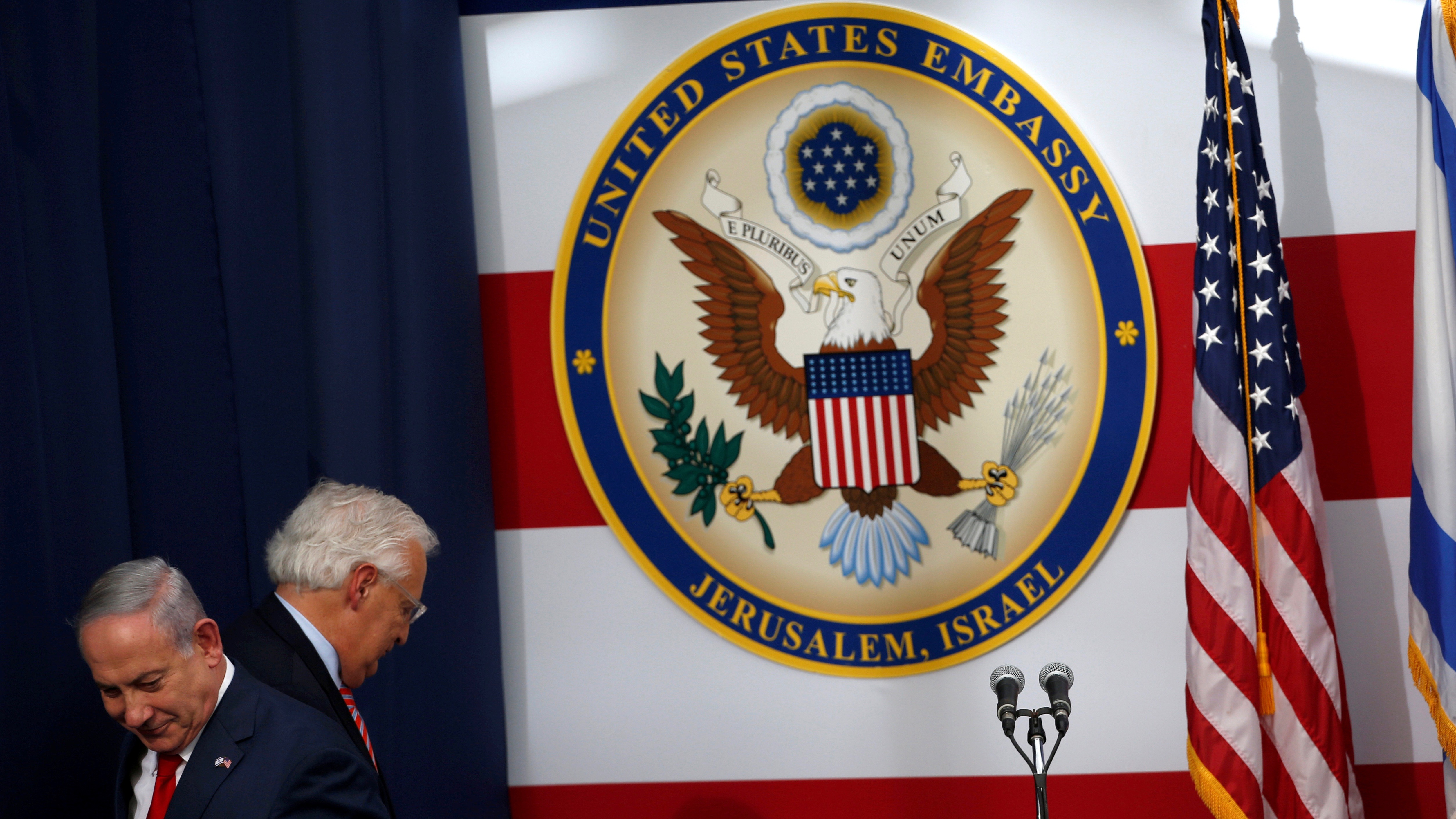 Ambassador to Israel, at the dedication ceremony of the new American embassy in Jerusalem, May 14.