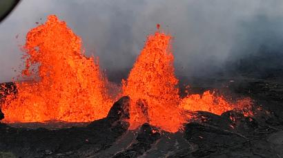 An image from the Kilauea Volcanic eruption.