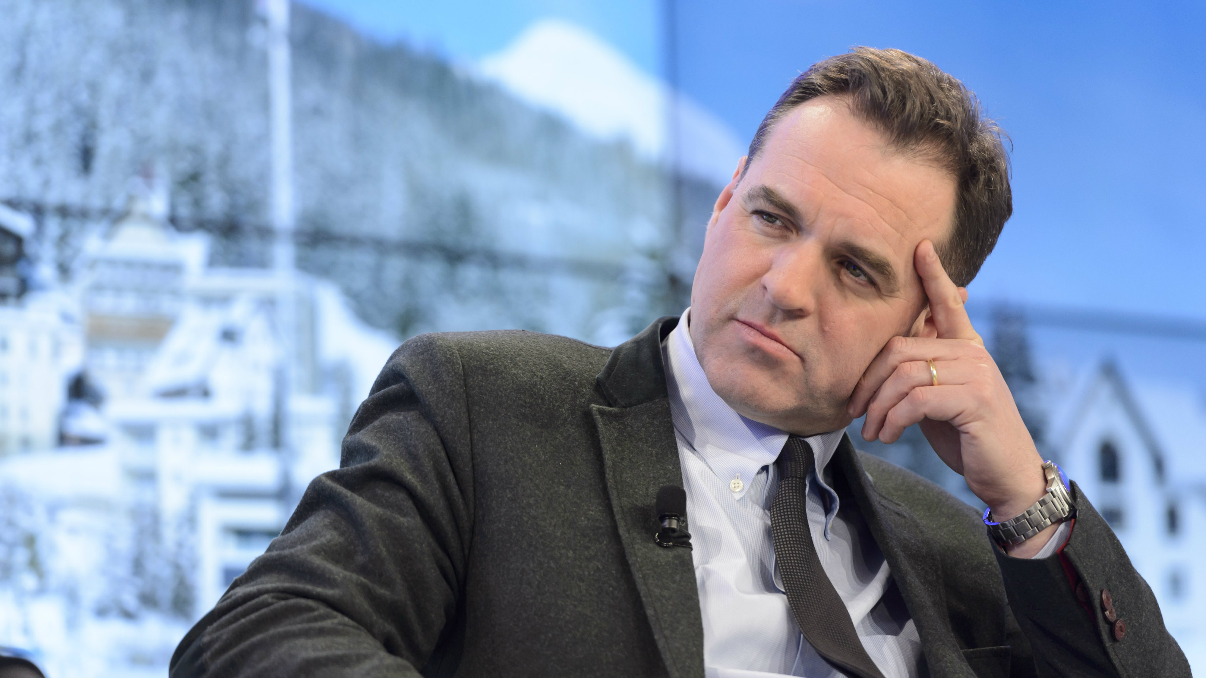 Scottish historian and financial expert Niall Ferguson attends a panel session at the 46th Annual Meeting of the World Economic Forum, WEF, in Davos, Switzerland, 22 January 2016. The overarching theme of the meeting, which is expected to gather some 2,500 leading politicians, UN executives, heads of major corporations, NGO leaders and artists at the annual four-day gathering taking place from 20 to 23 January, is 'Mastering the Fourth Industrial Revolution'.