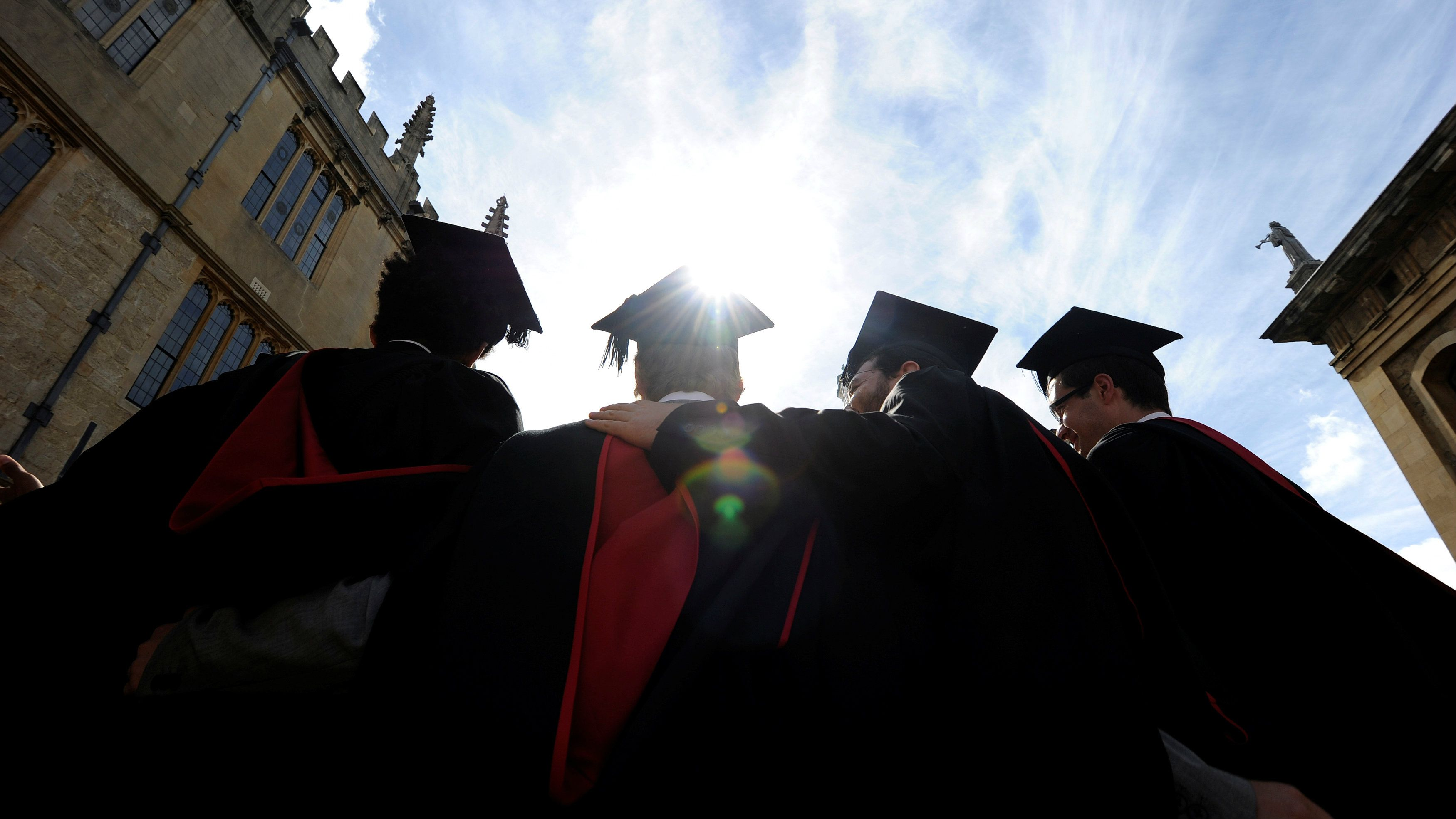 Students graduating at the University of Oxford.