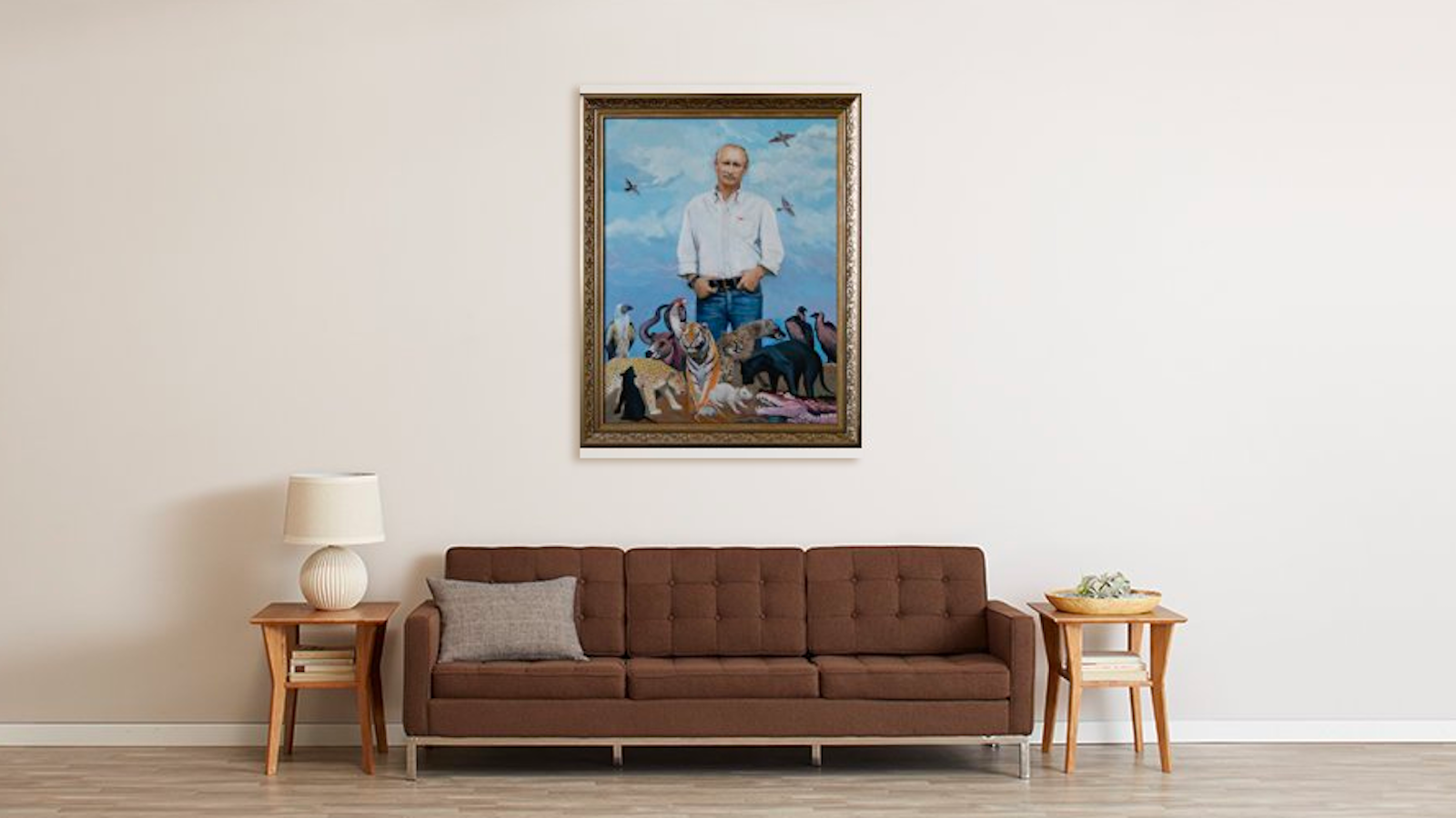 putin painting on amazon