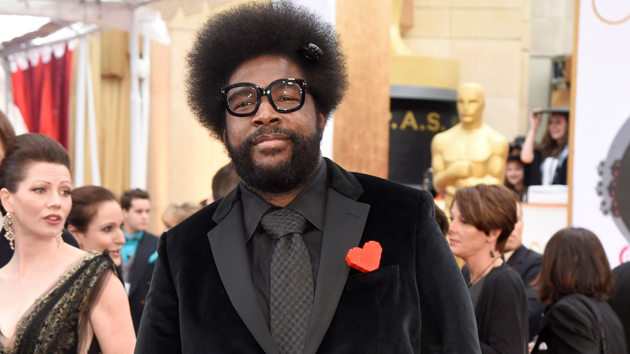 Questlove arrives at the Oscars