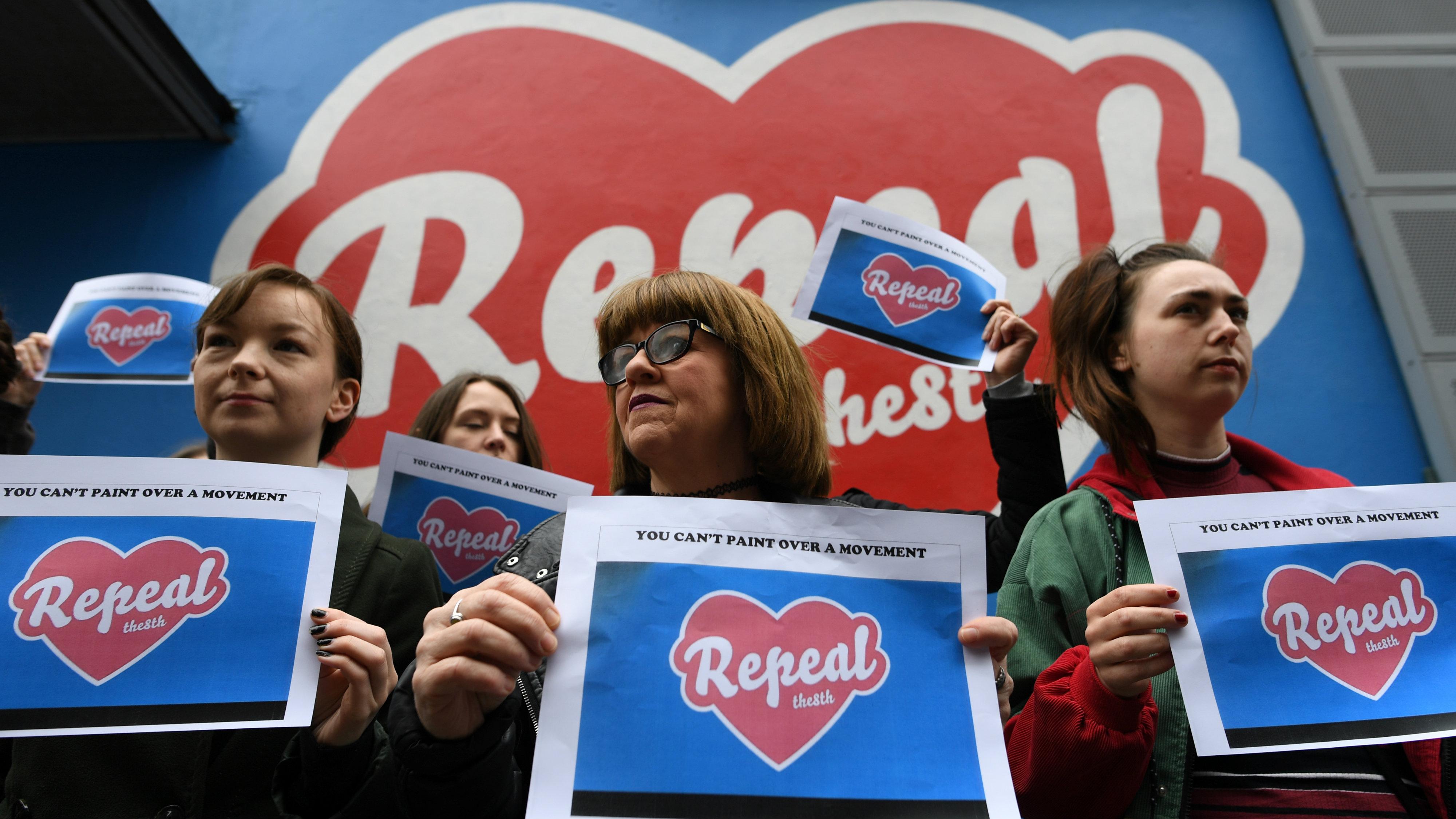 Irish abortion protestors