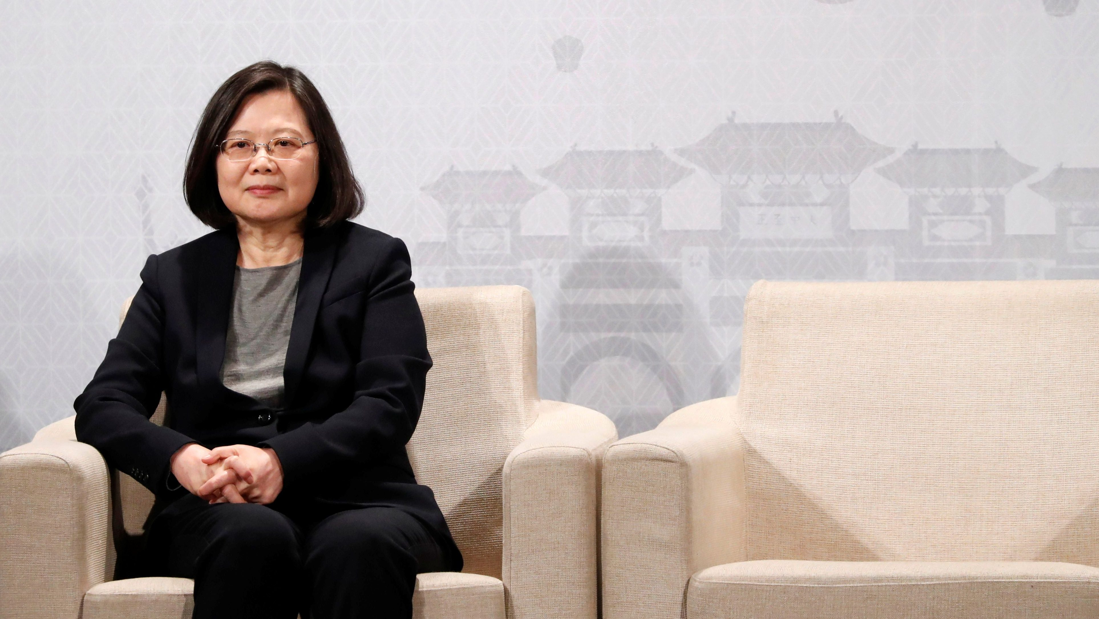 Taiwan's President Tsai Ing-wen attends American Chamber of Commerce (AmCham)'s yearly dinner event, in Taipei, Taiwan March 21, 2018.