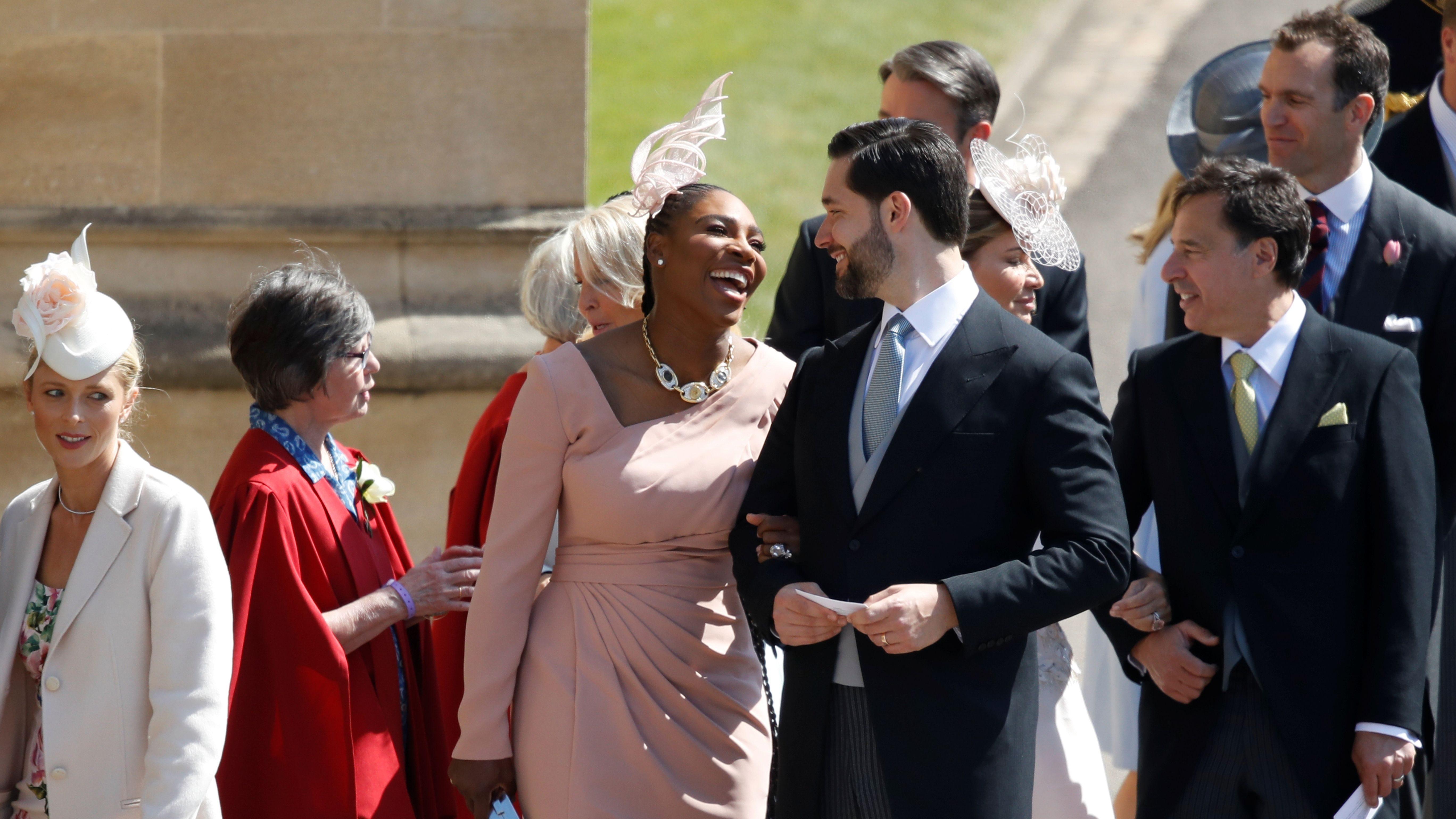 britain s royal wedding serena williams wore sneakers as formalwear quartz serena williams wore sneakers as
