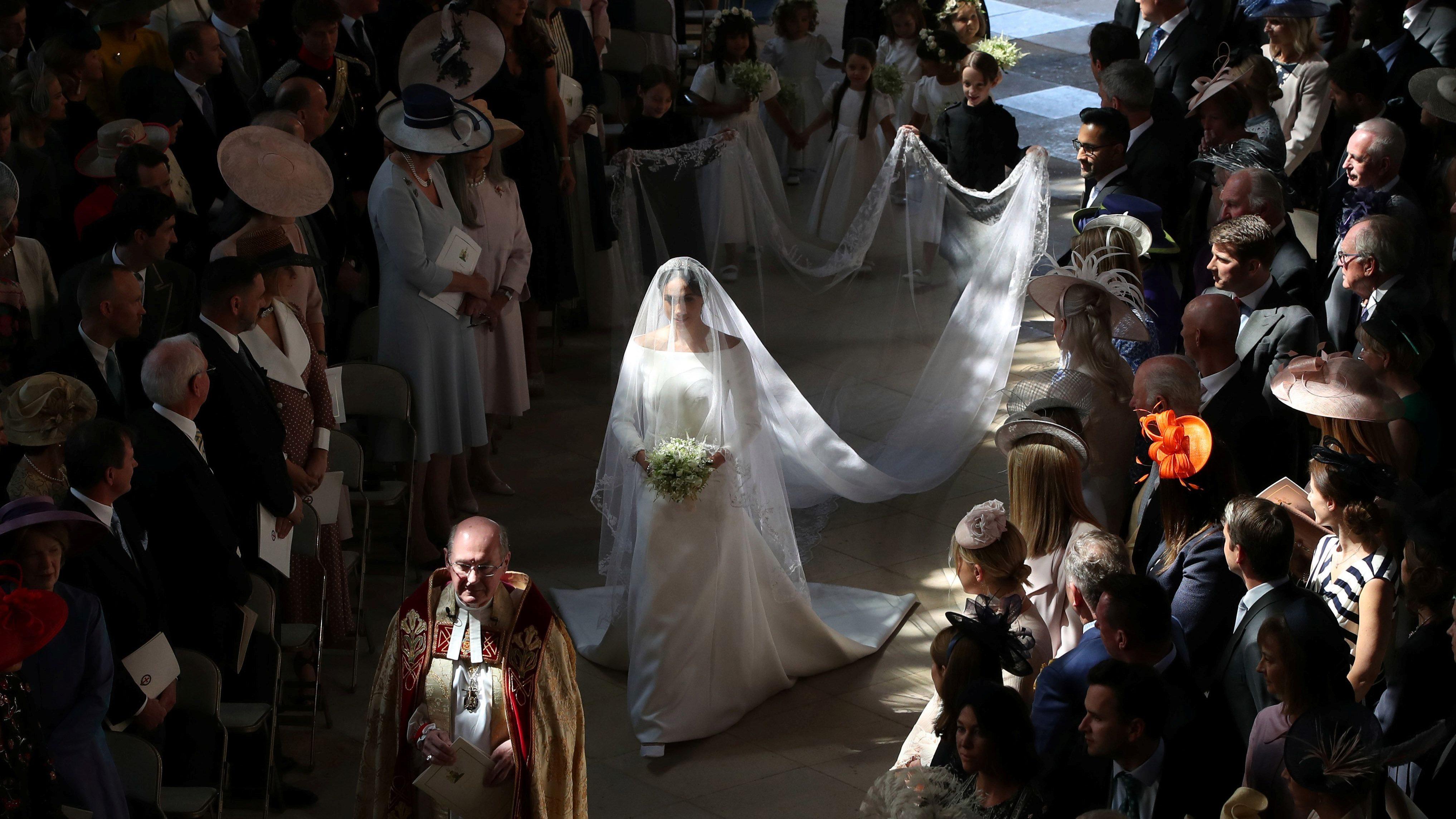 Britains Royal Wedding Meghan Markles Wedding Veil Was A Symbolic