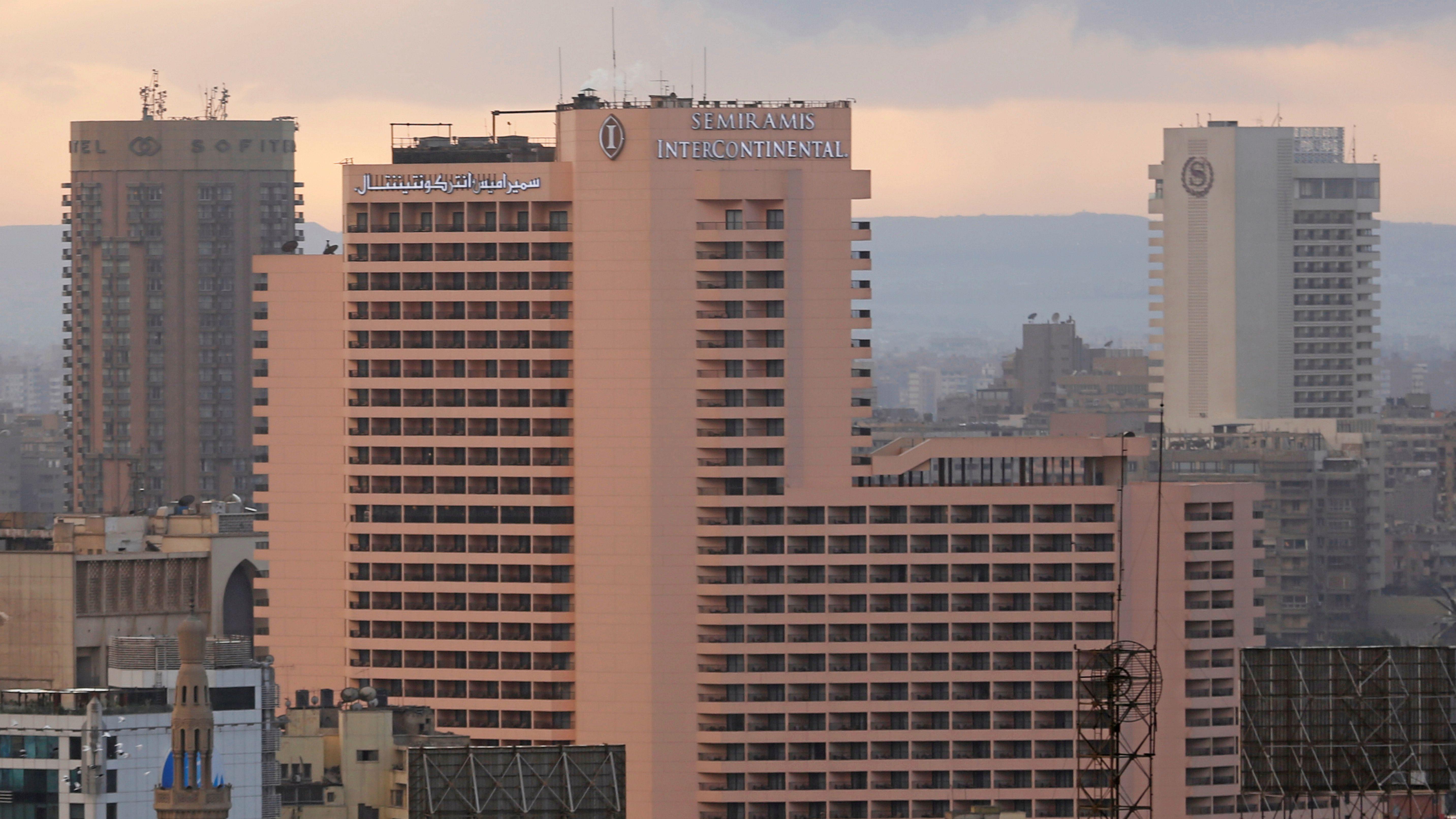 The Semiramis InterContinental Hotel, Sofitel Cairo El Gezirah hotel and Sheraton Cairo Hotel are seen in Cairo, Egypt December 5, 2016.